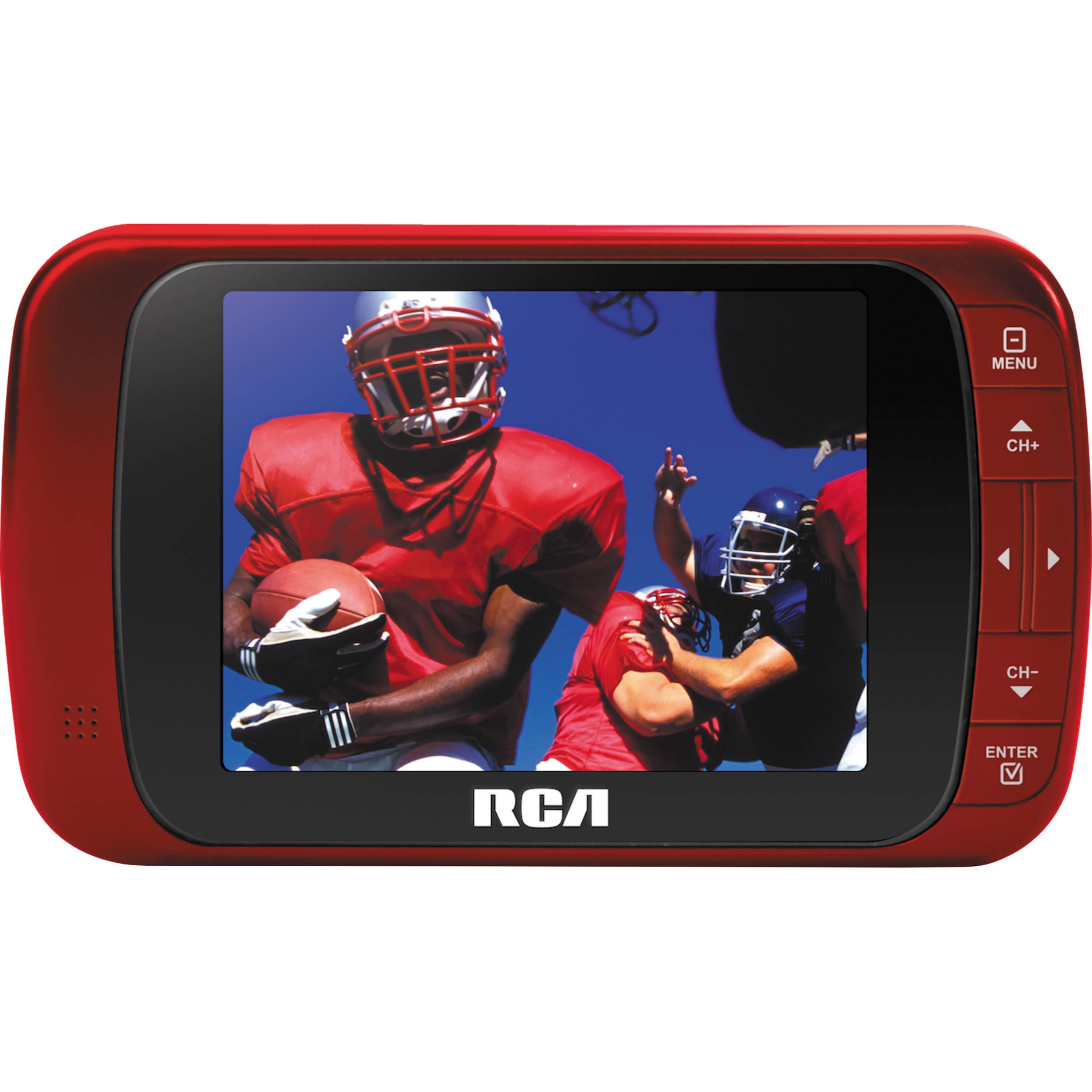 "Best Portable Tv For Hurricane Portable Greenhouse Cold Frame Portable Dishwasher Saskatoon Portable Steel Straw: RCA 3.5"" LED Portable Digital TV (Red) DHT235AR B&H Photo"