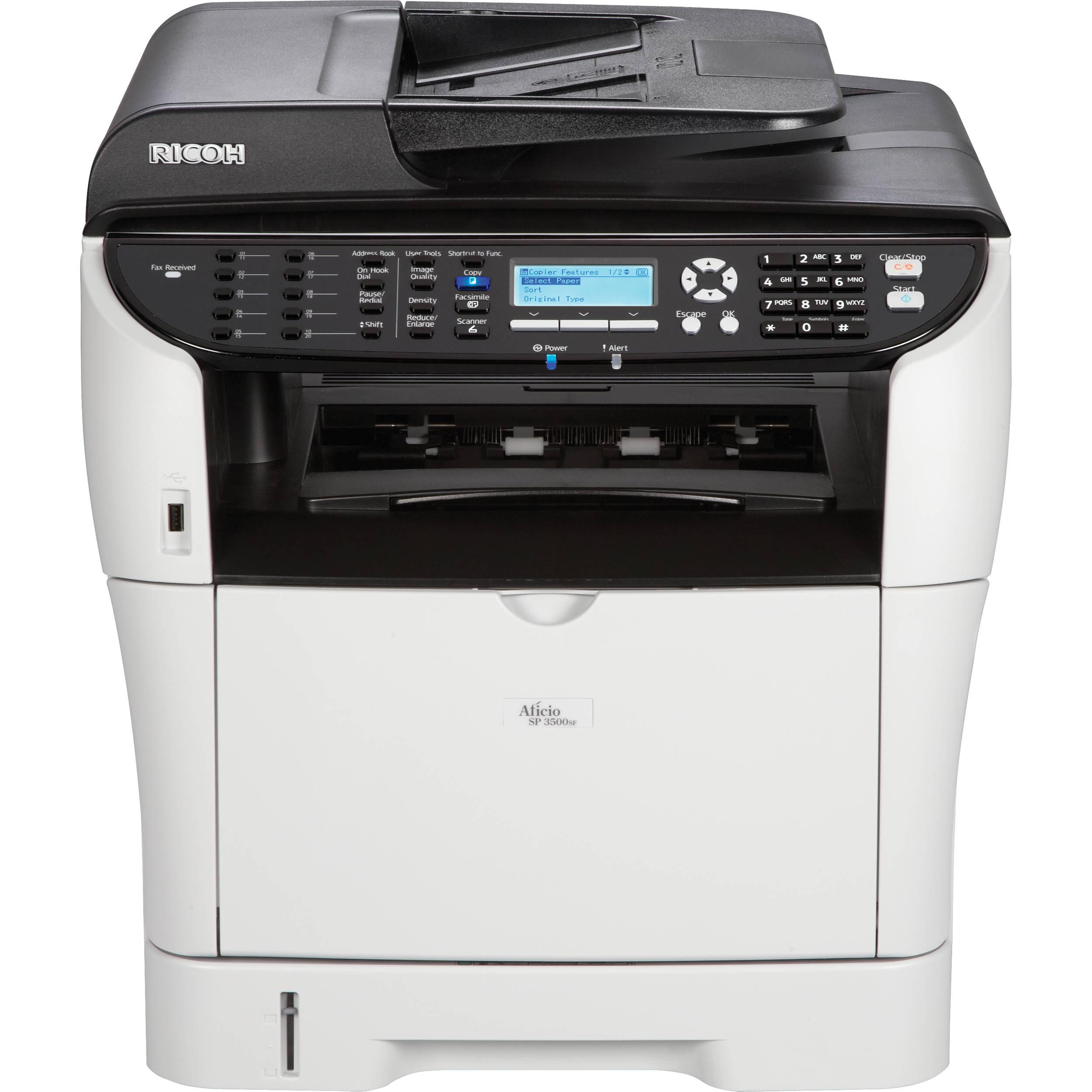 Printer Desk Ricoh Aficio Sp 3500sf Network Monochrome All In One
