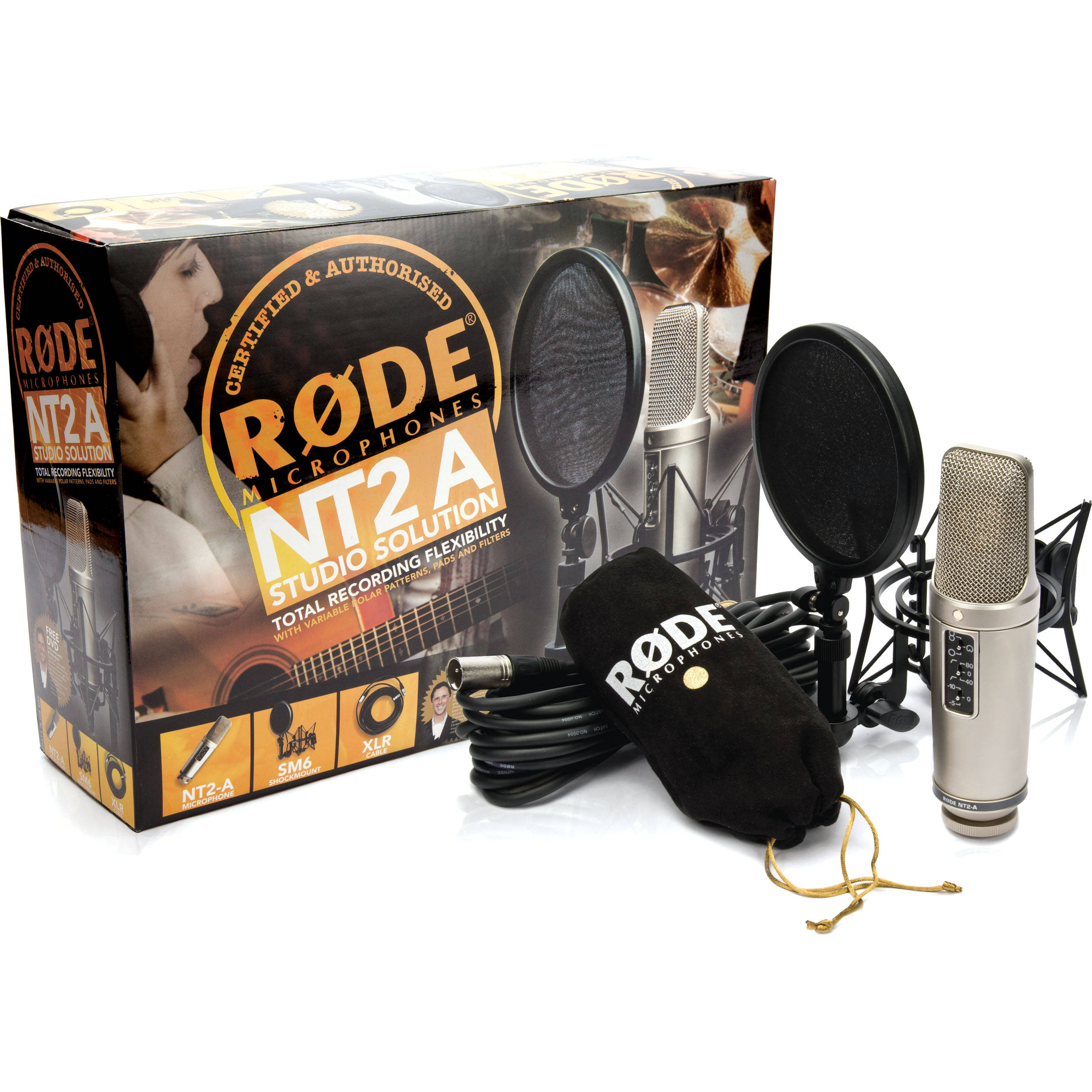 Rode Nt2 A Studio Solution Package Nt2a Pck B Amp H Photo Video