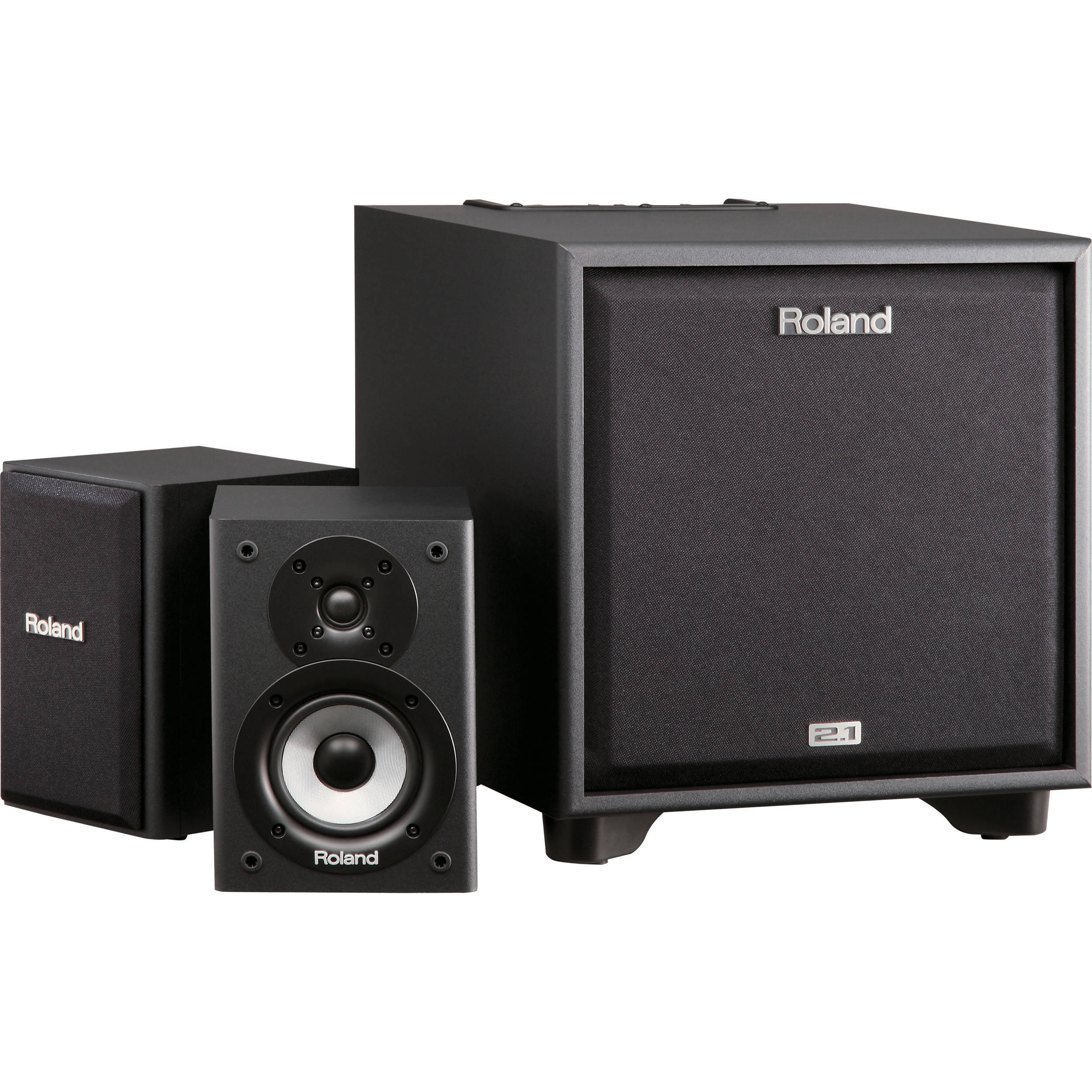 roland cm 220 cube 2 1 monitor system cm 220 b h photo video. Black Bedroom Furniture Sets. Home Design Ideas