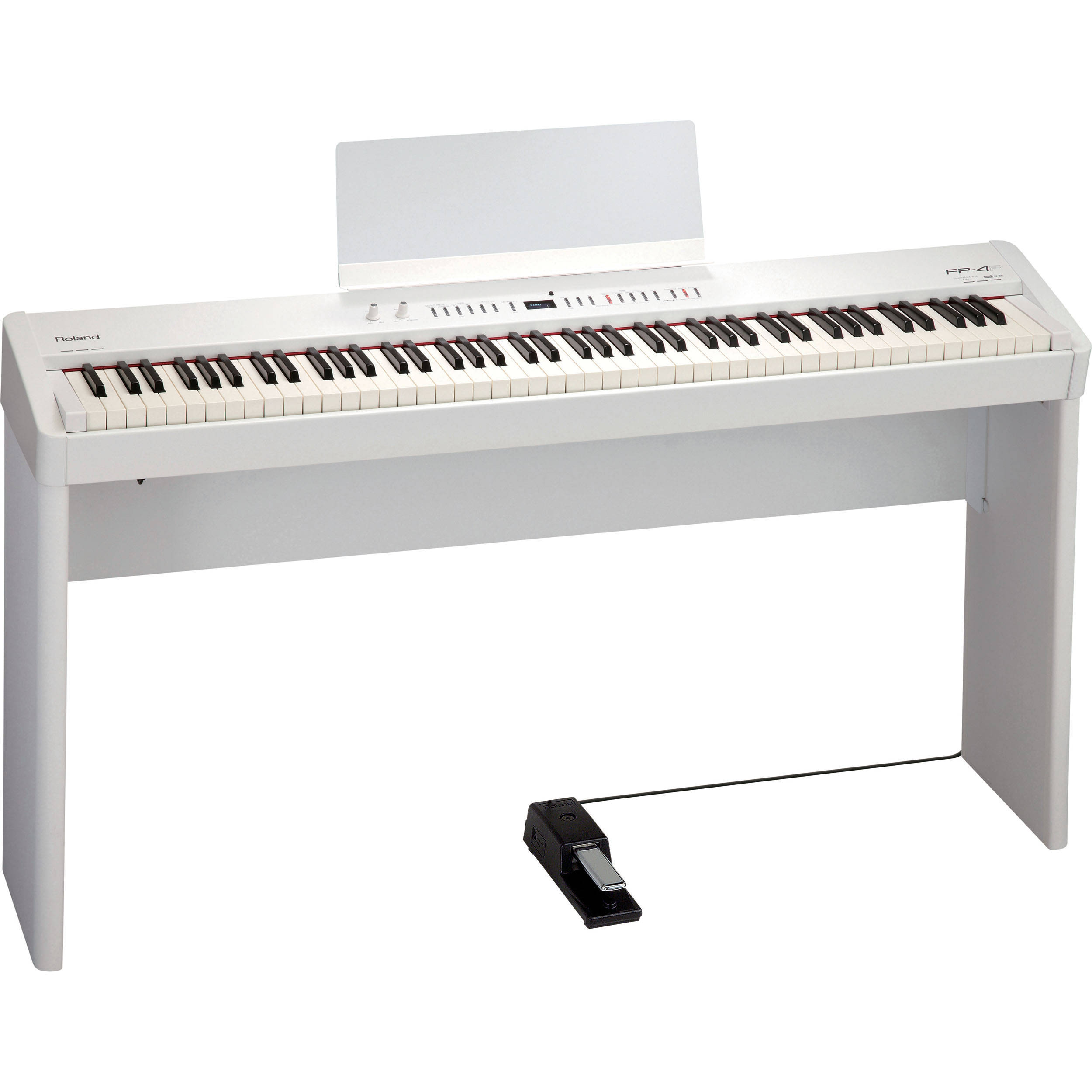 roland fp 4f digital piano white fp 4f whc b h photo video. Black Bedroom Furniture Sets. Home Design Ideas
