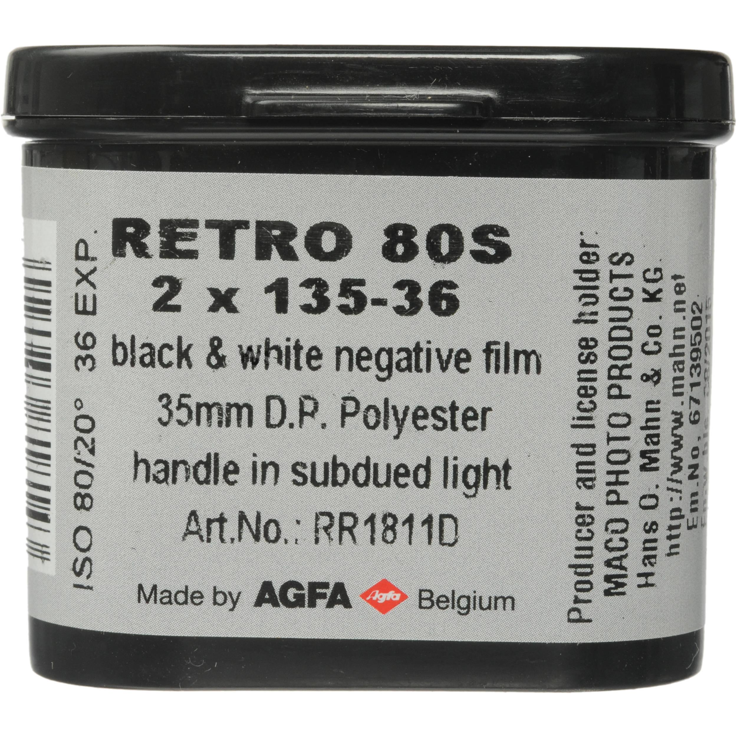 Rollei Retro 80S Black and White Negative Film 8108112 B&H Photo