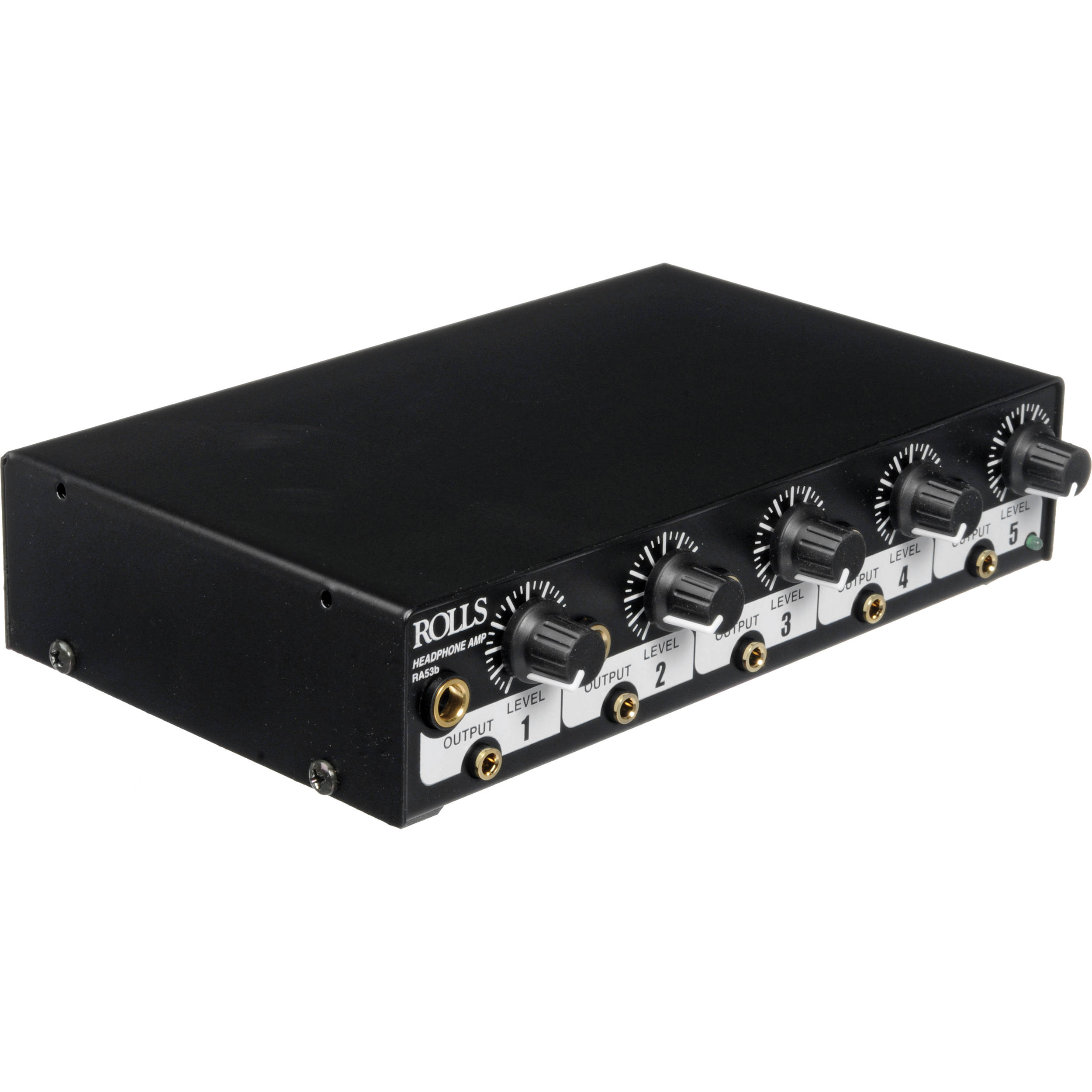 Rolls Ra53b 5 Channel Headphone Amplifier Bh Photo The Jacks On Front Panel Circuit