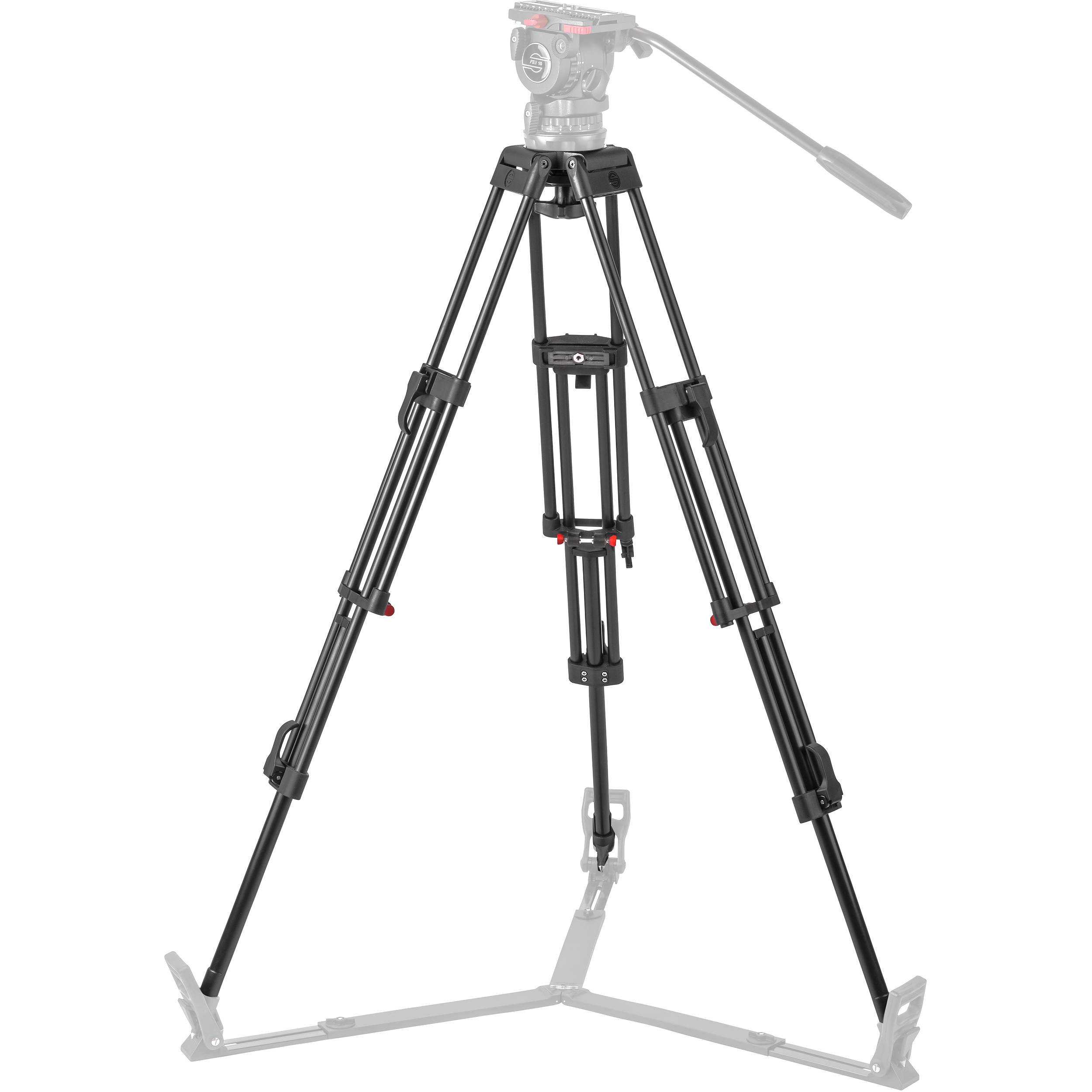 sachtler da 100 eng 2d aluminum tripod legs 5186 b h photo video  sachtler da 100 eng 2d aluminum tripod legs