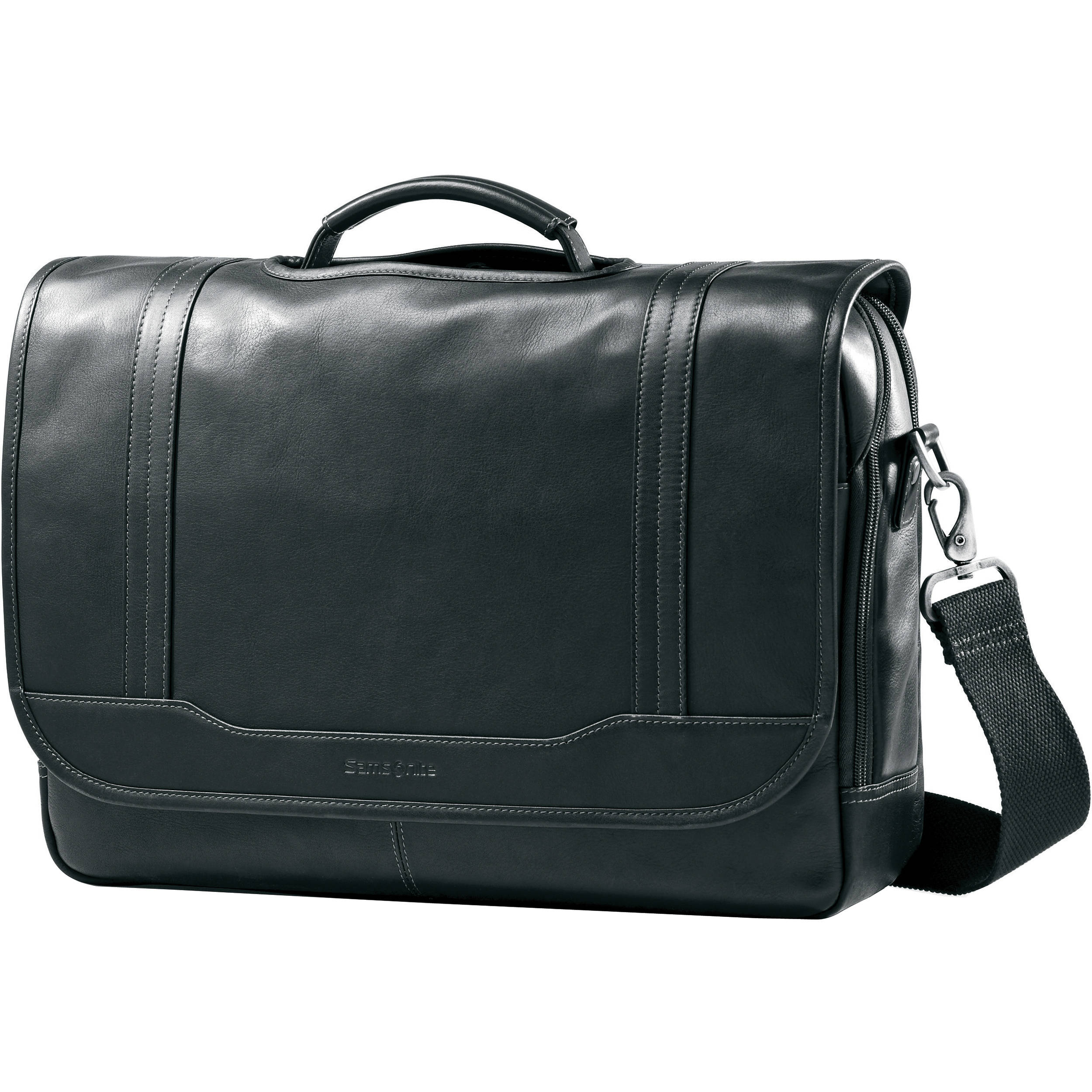 Samsonite Colombian Leather Flapover Briefcase 50789 1041 B Amp H