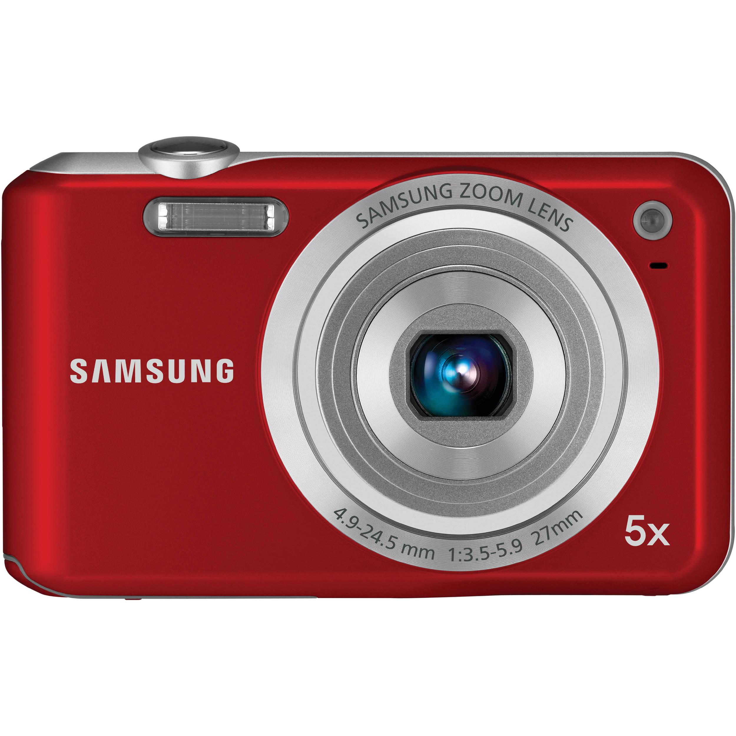 Samsung SL50 Digital Camera (Red) EC-SL50ZZBPRUS B&H Photo ...