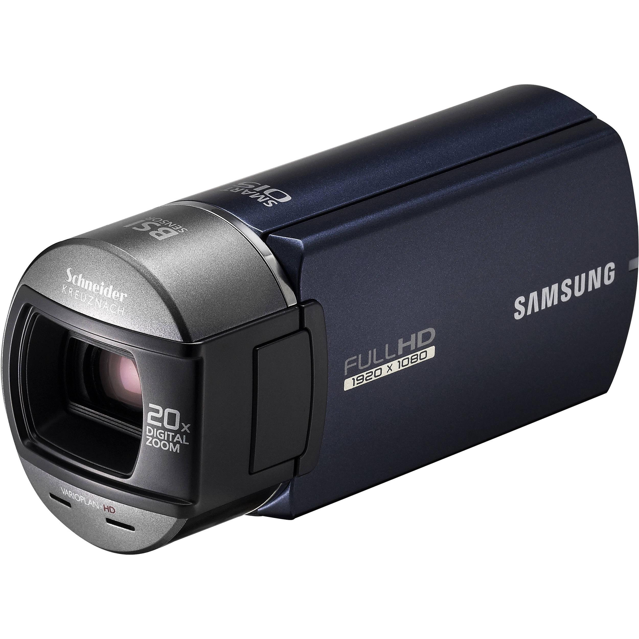 samsung hmx q10 hd camcorder blue hmx q10un xaa b h photo rh bhphotovideo com Samsung Schneider-Kreuznach Camcorder Samsung Ois Duo Camcorder