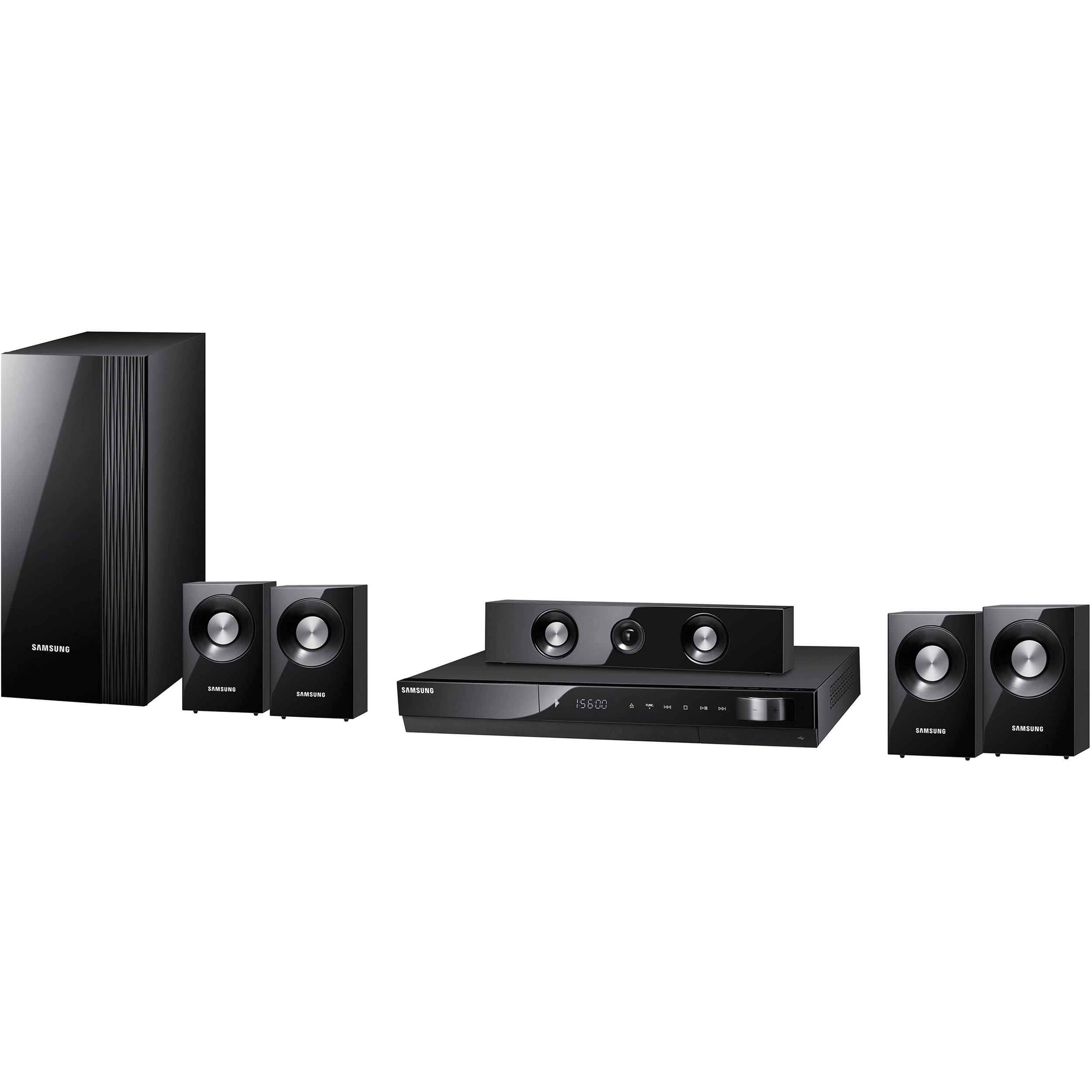 samsung ht c550 5 1 channel home theater system ht c550 b h. Black Bedroom Furniture Sets. Home Design Ideas