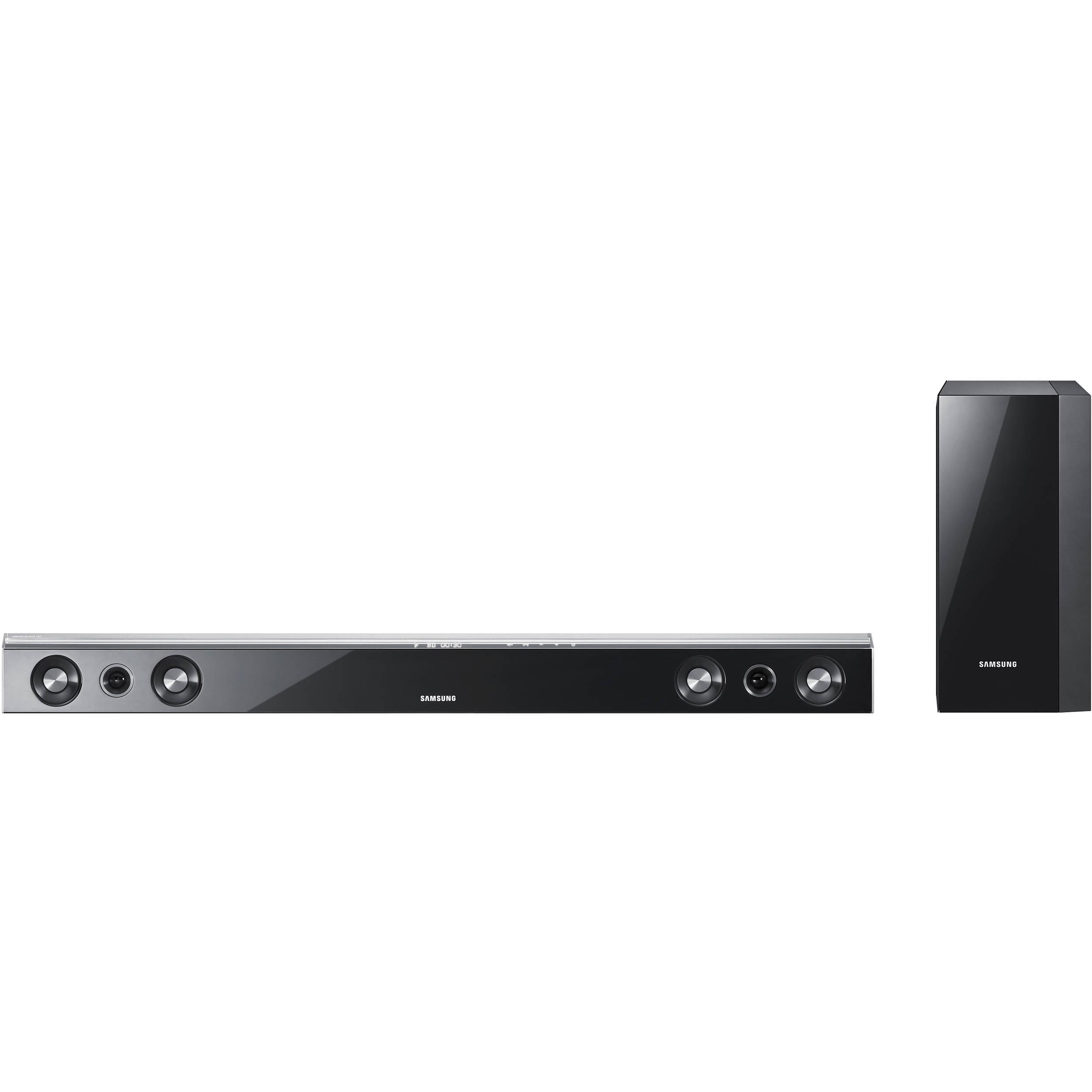 samsung hw c450 2 1 channel audiobar system black hw c450 b h. Black Bedroom Furniture Sets. Home Design Ideas