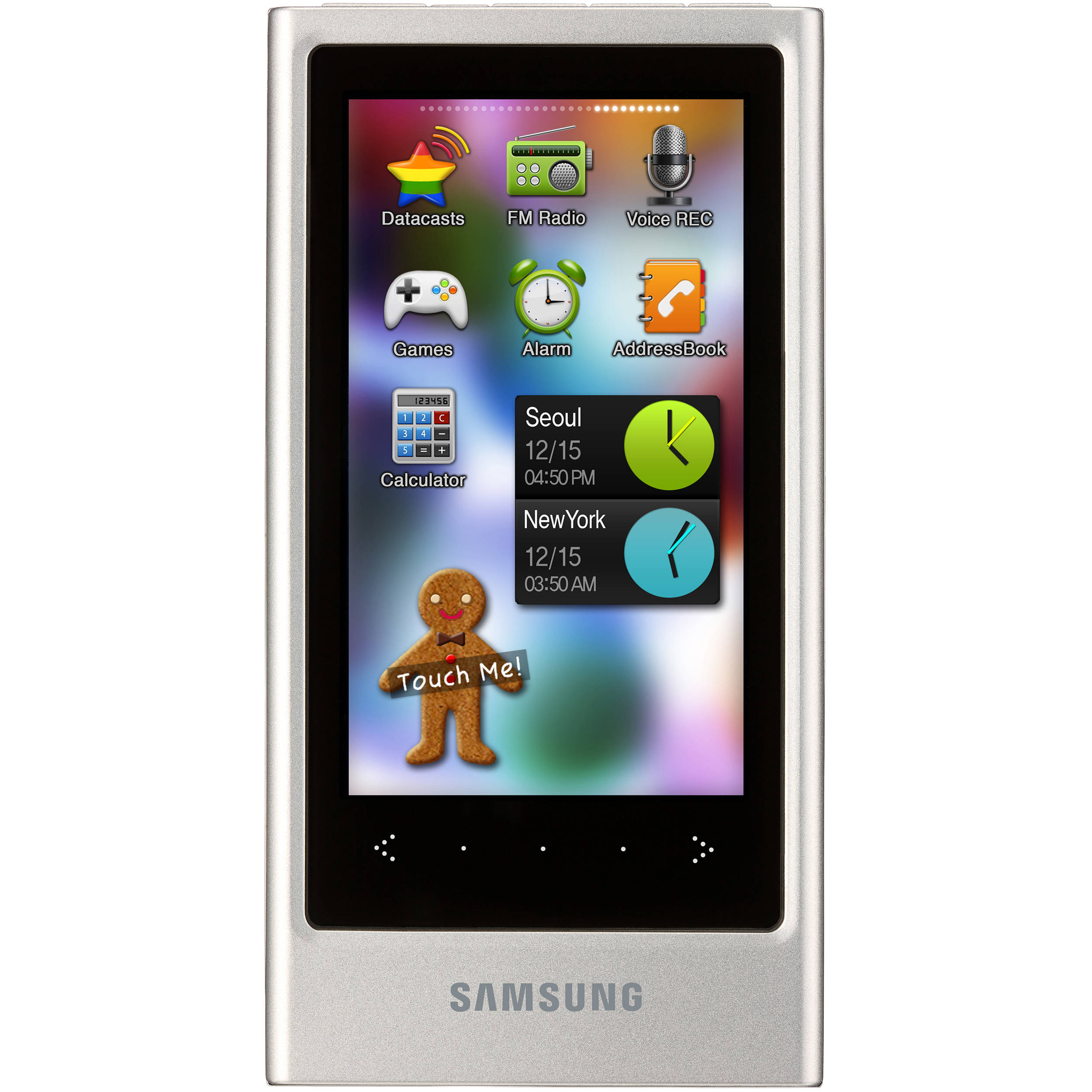 samsung yp p3 mp3 player silver yp p3jes xaa b h photo video. Black Bedroom Furniture Sets. Home Design Ideas