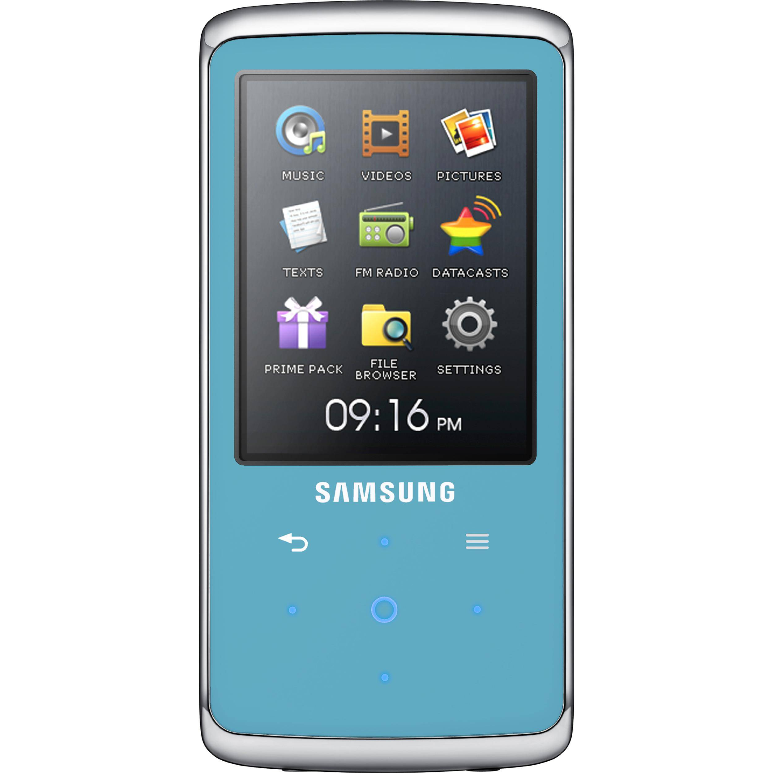 samsung q2 mp3 player blue yp q2jel xaa b h photo video. Black Bedroom Furniture Sets. Home Design Ideas