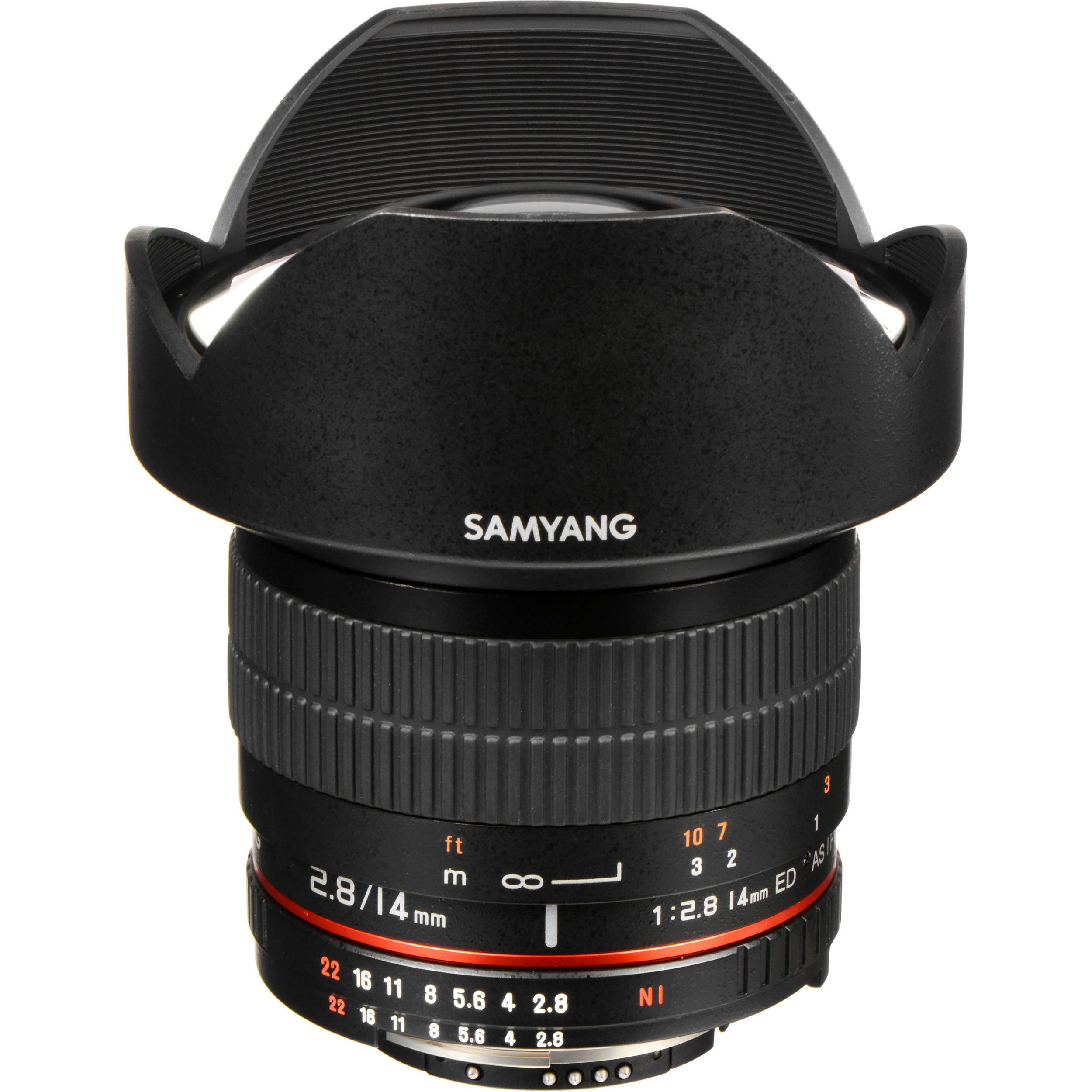 Samyang 14mm ultra wide angle f 2 8 if ed umc lens sy14mae for Samyang 14mm nikon