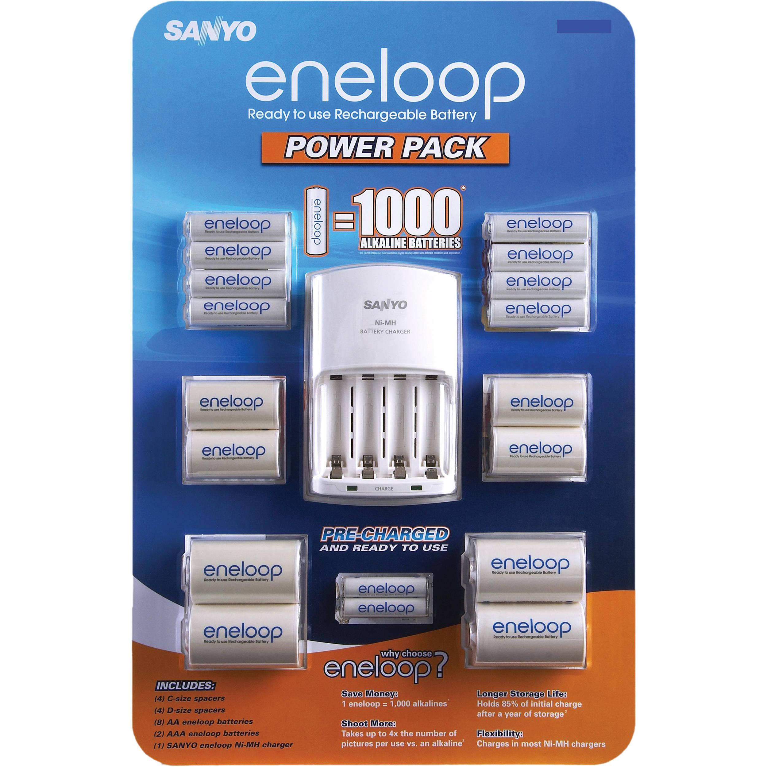 Sanyo Eneloop Power Pack Battery Charging Kit Sec