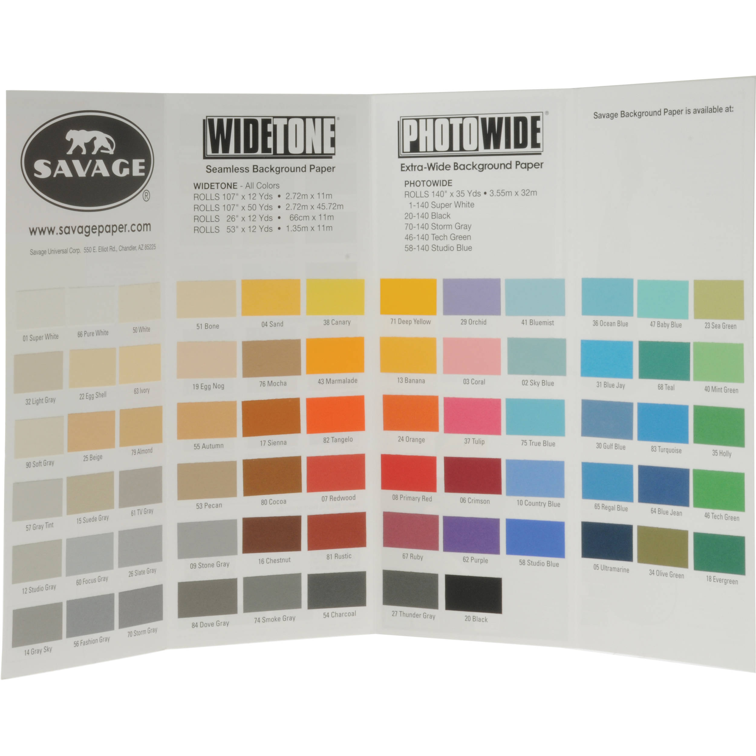 savage color chart for background paper cc wideton65 b h photo