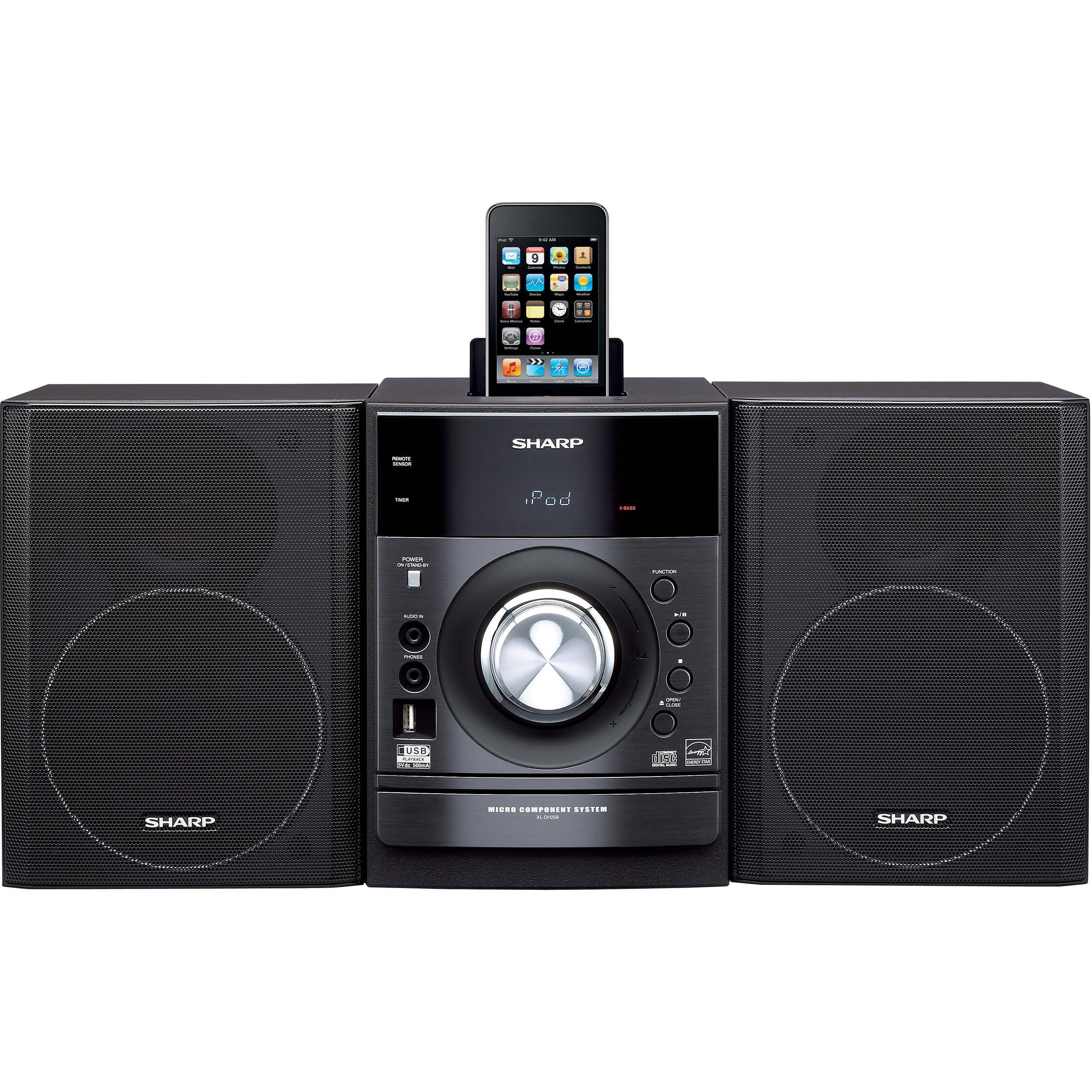 sharp xl dh259p audio system xl dh259p b h photo video rh bhphotovideo com KB Sharp 6525P5 sharp xl-dh259 manual