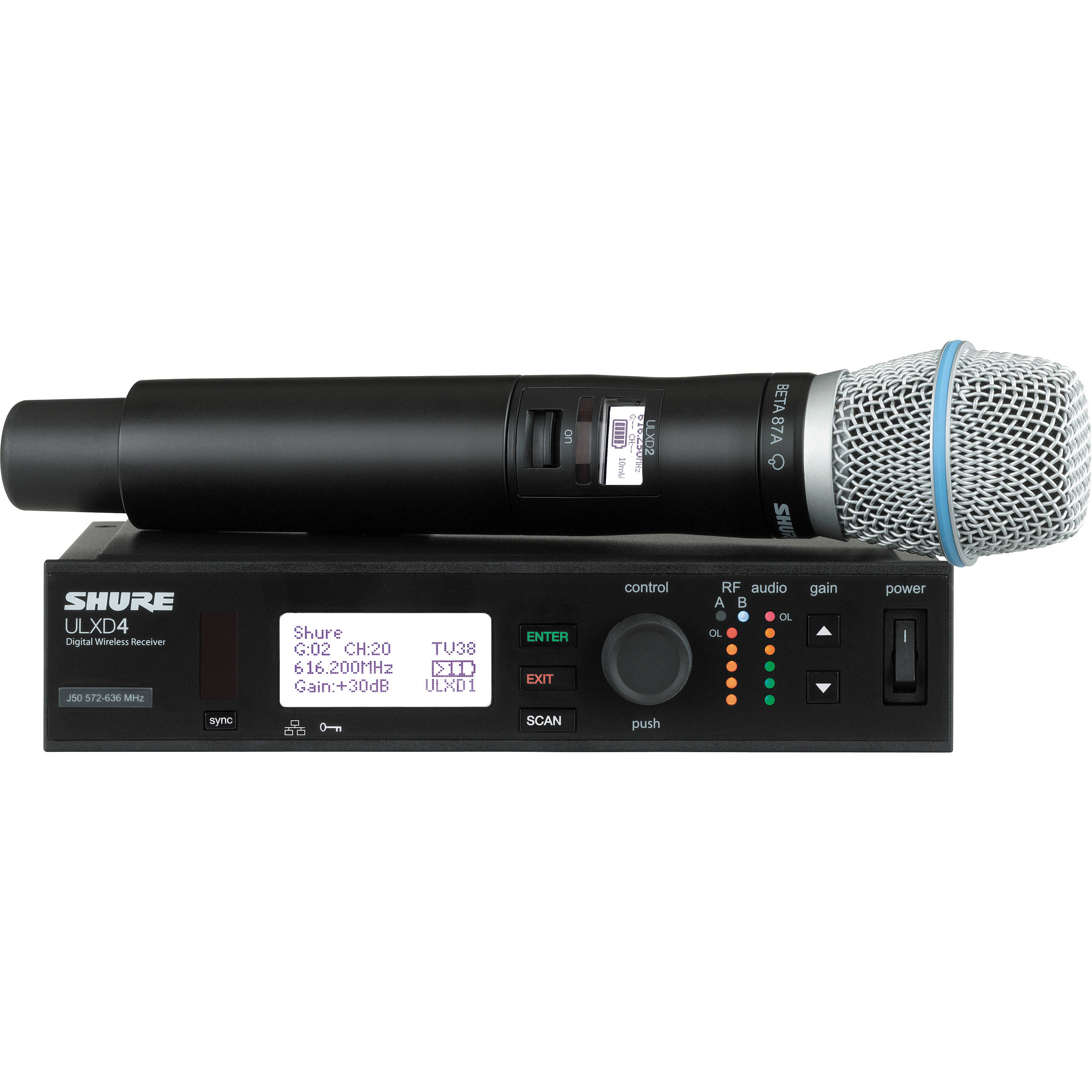 shure ulx d digital wireless handheld microphone ulxd24 b87a l50. Black Bedroom Furniture Sets. Home Design Ideas