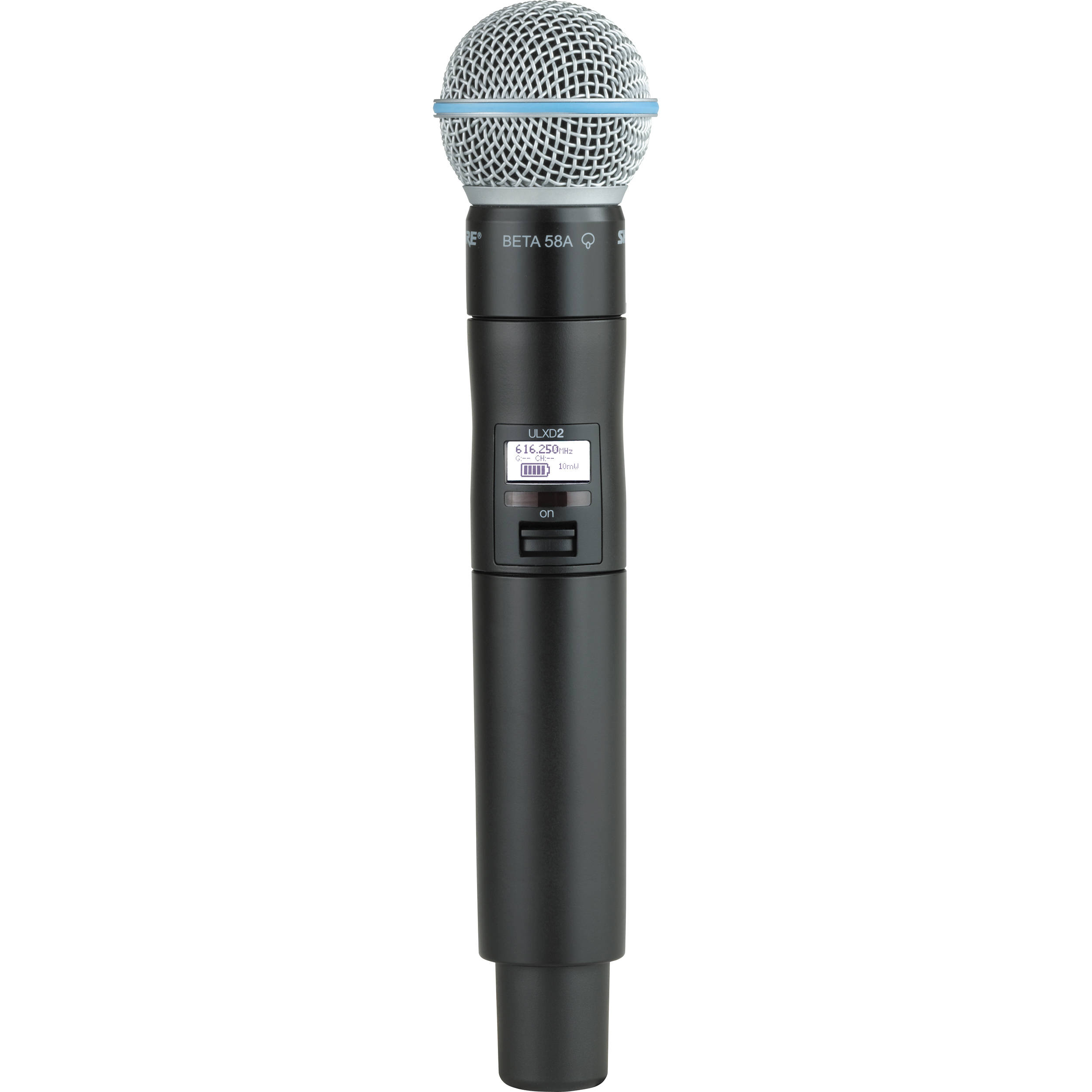 Shure ULXD2 Handheld Transmitter With Beta 58A Microphone Capsule G50