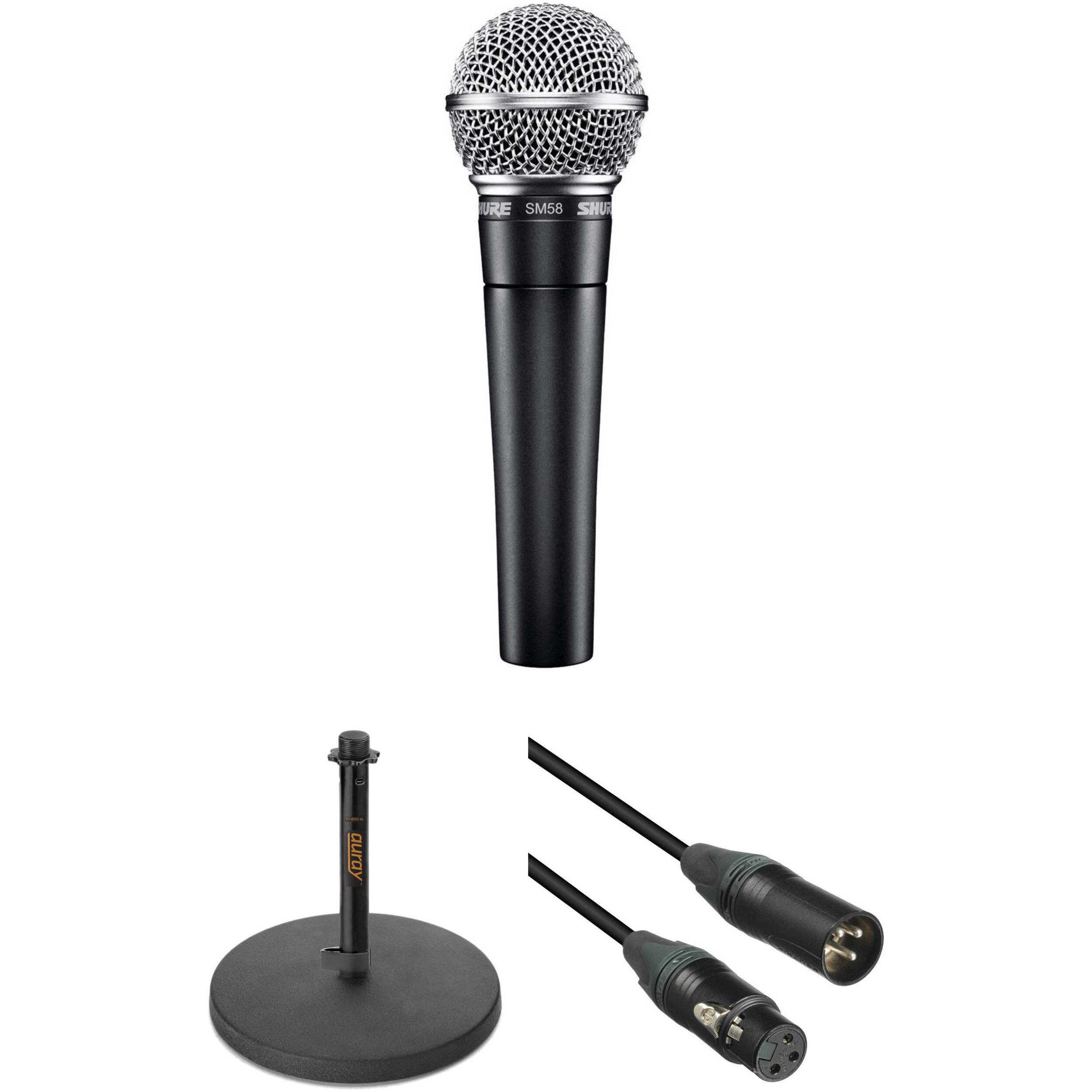 shure sm58 dynamic voice over microphone kit b h photo video. Black Bedroom Furniture Sets. Home Design Ideas