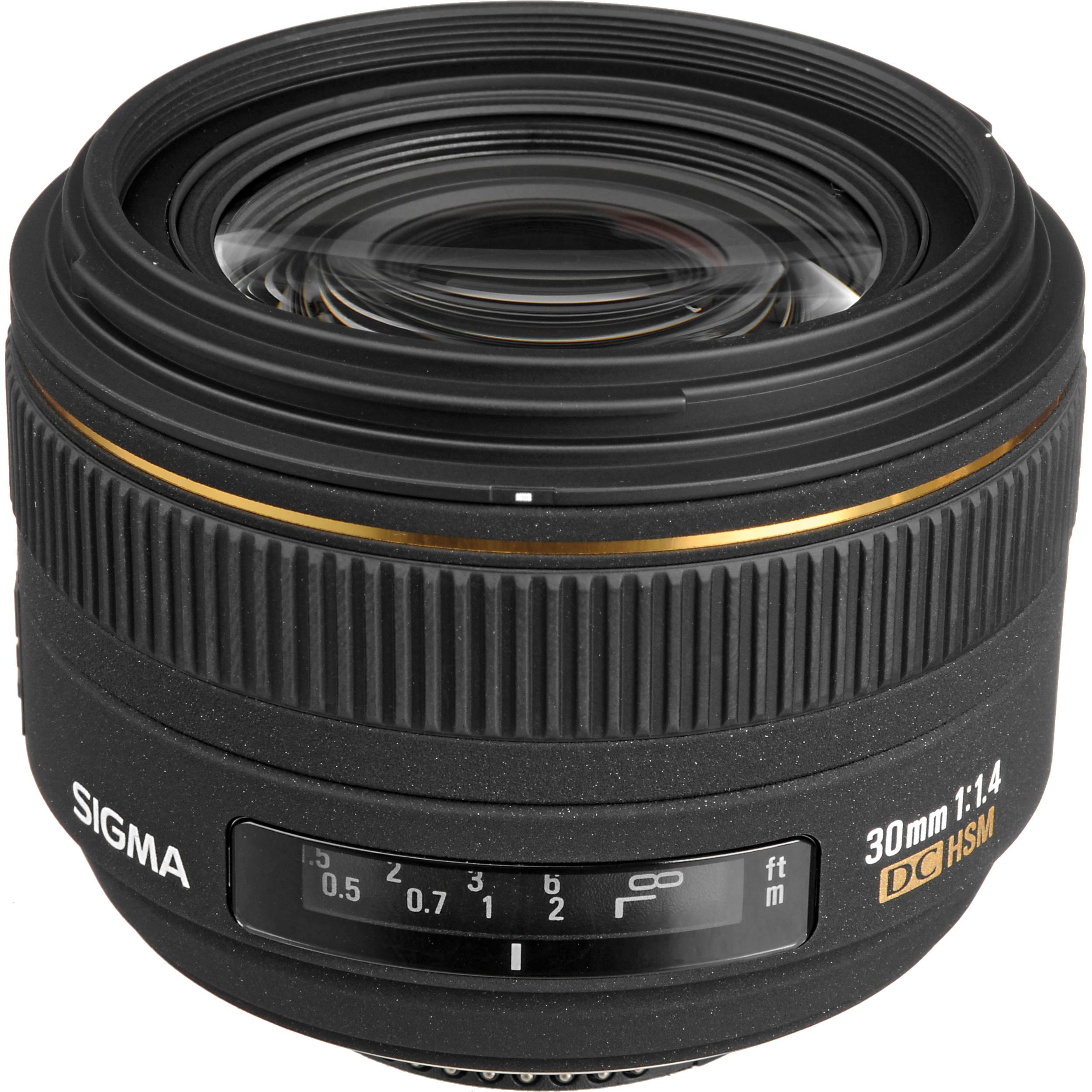 Sigma 30mm f/1.4 EX DC HSM Autofocus Lens for Nikon 300306 B&H
