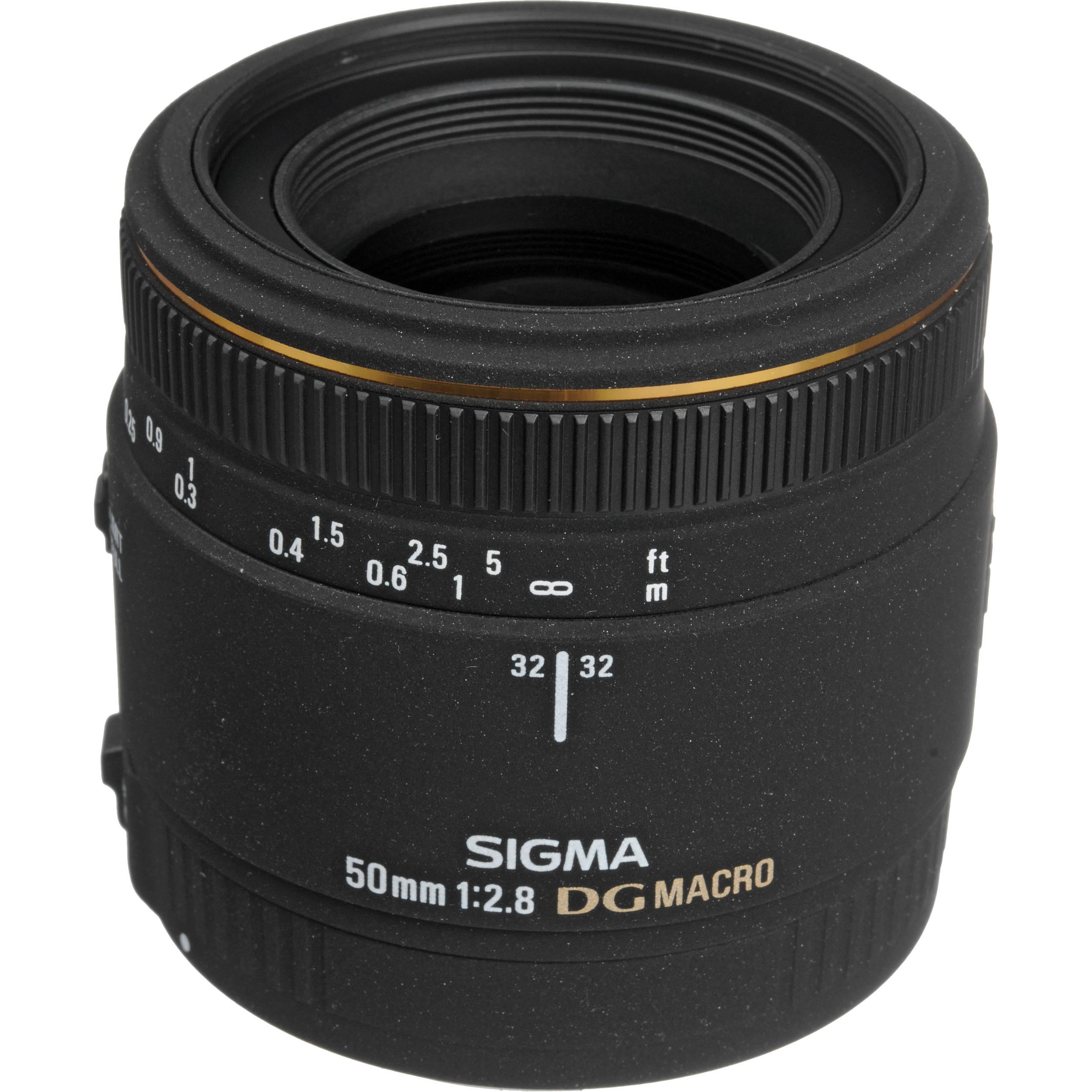 sigma 50mm f 2 8 d ex dg macro autofocus lens 346205 b h photo rh bhphotovideo com
