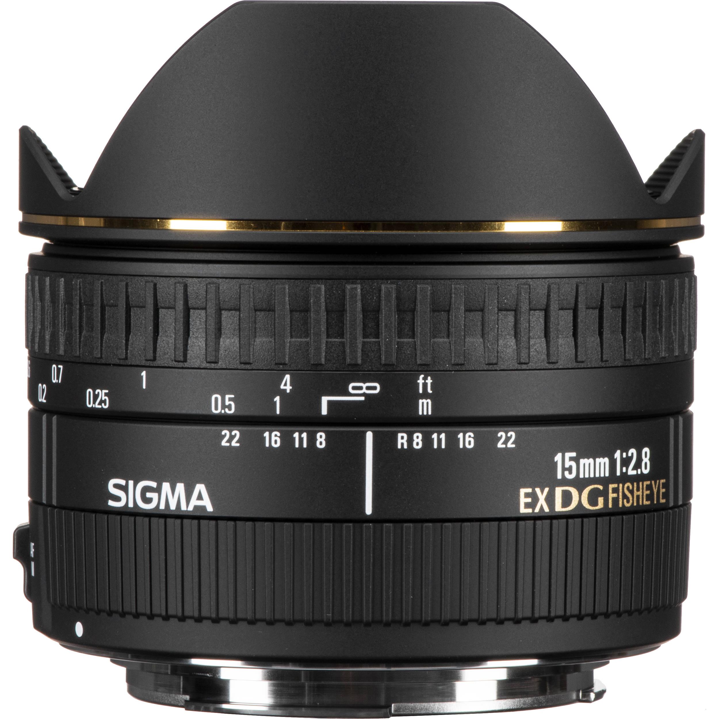 Sigma 15mm F 2 8 Ex Dg Diagonal Fisheye Lens For Canon Ef