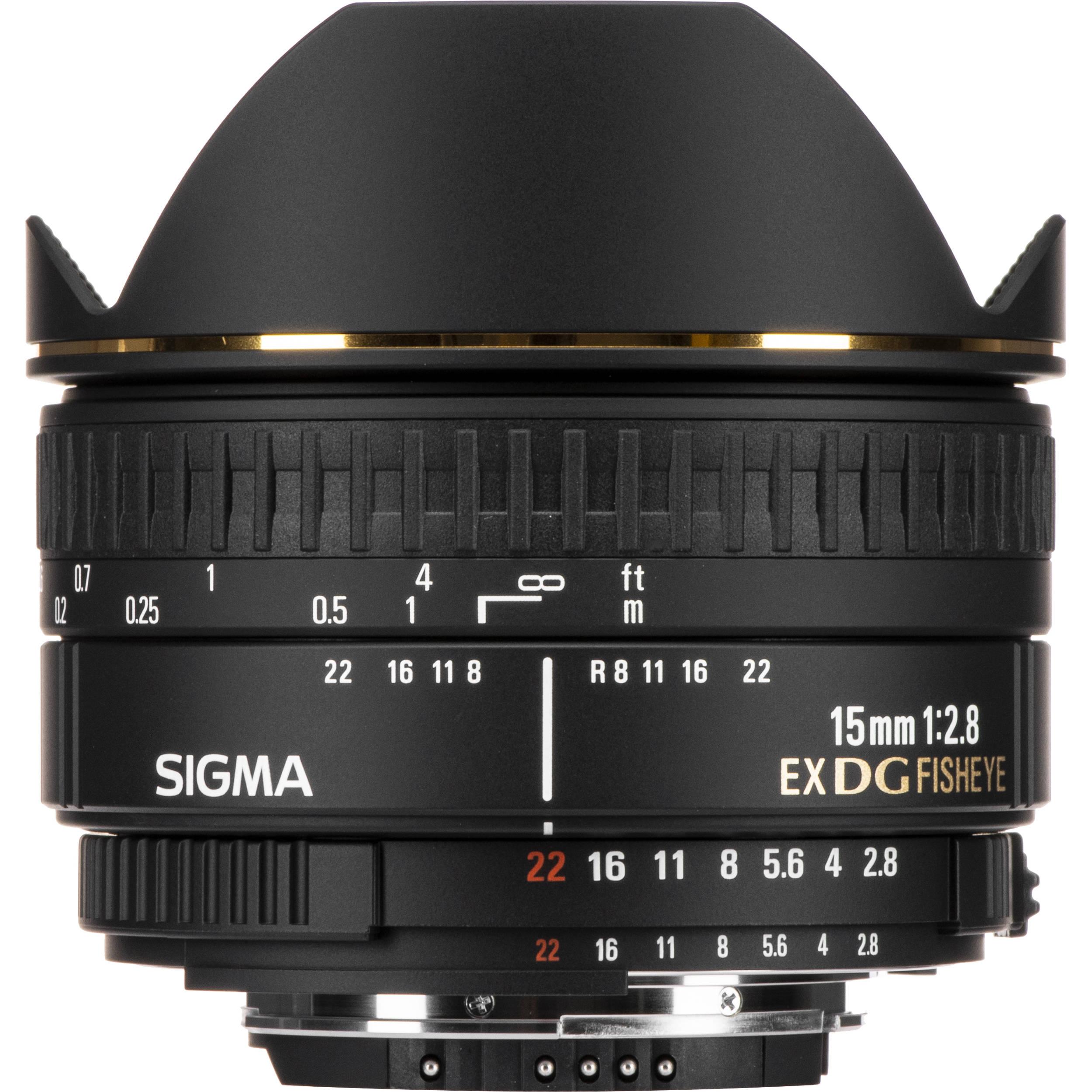 Sigma 15mm F 28 Ex Dg Diagonal Fisheye Lens For Nikon 476306 85mm 14 Hsm
