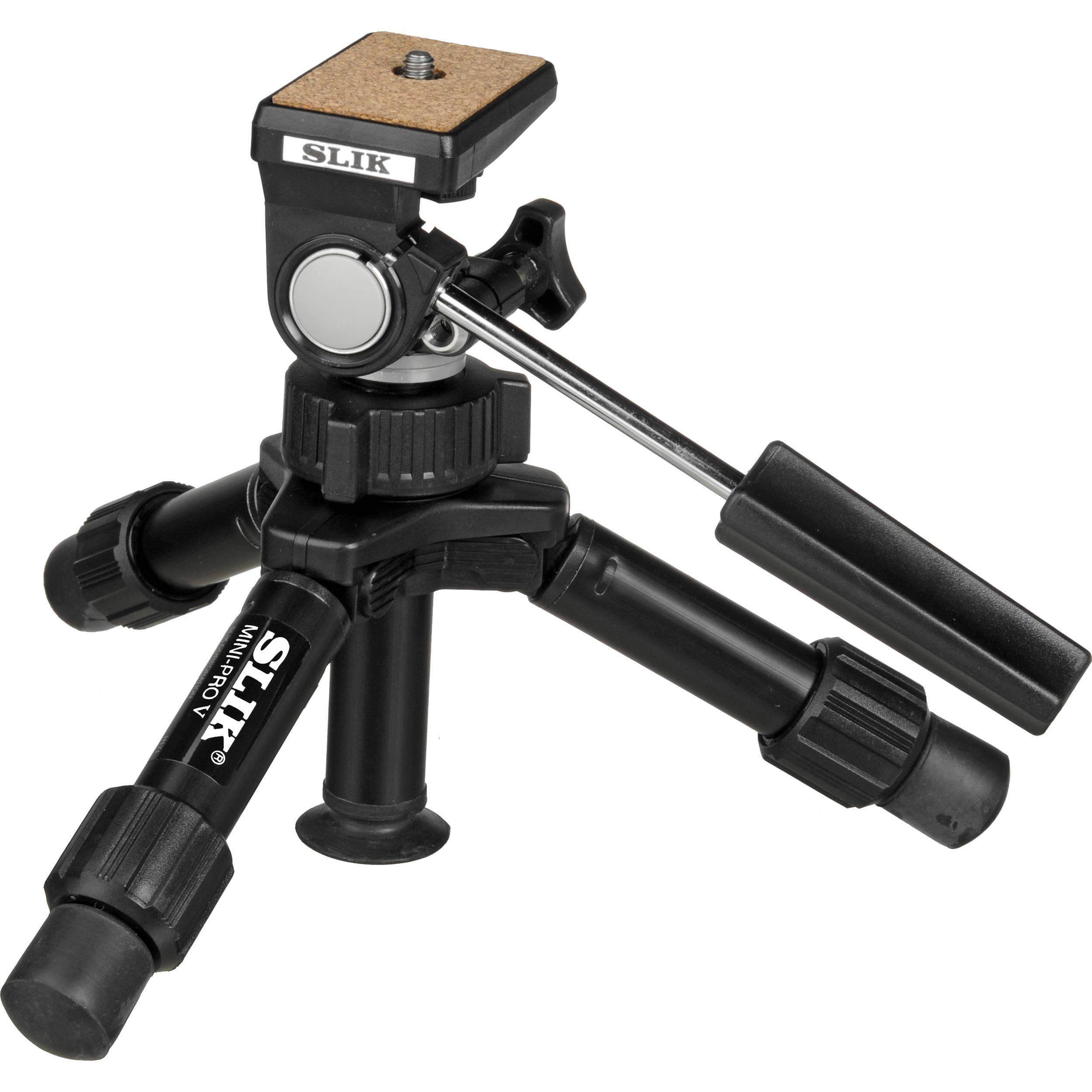 Slik Mini Pro V Tripod With 2 Way Pan Tilt Head 611 352 B Amp H