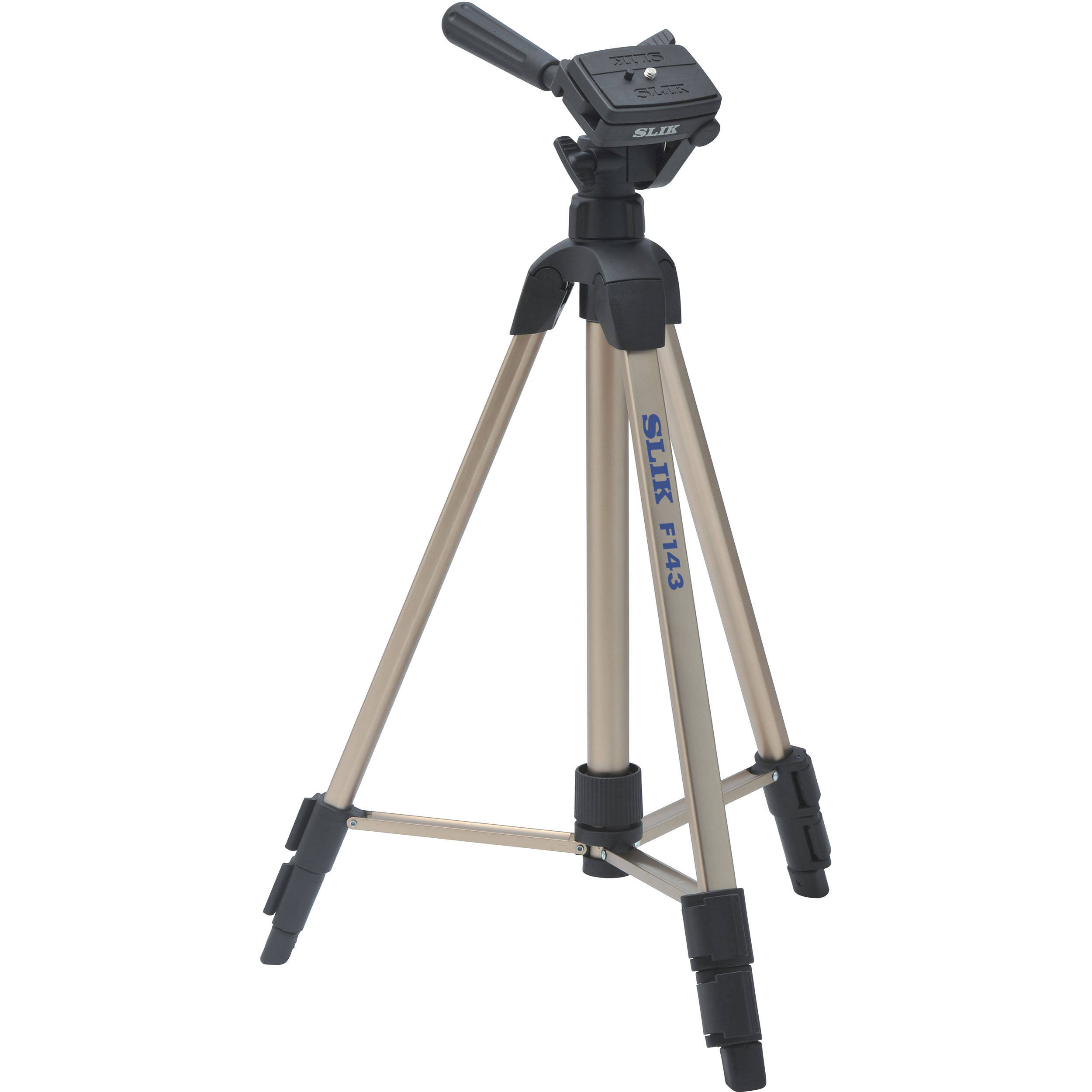 What Is Aluminum Used For >> Slik F143 Lightweight Aluminum Tripod with 3-Way Panhead 617-143
