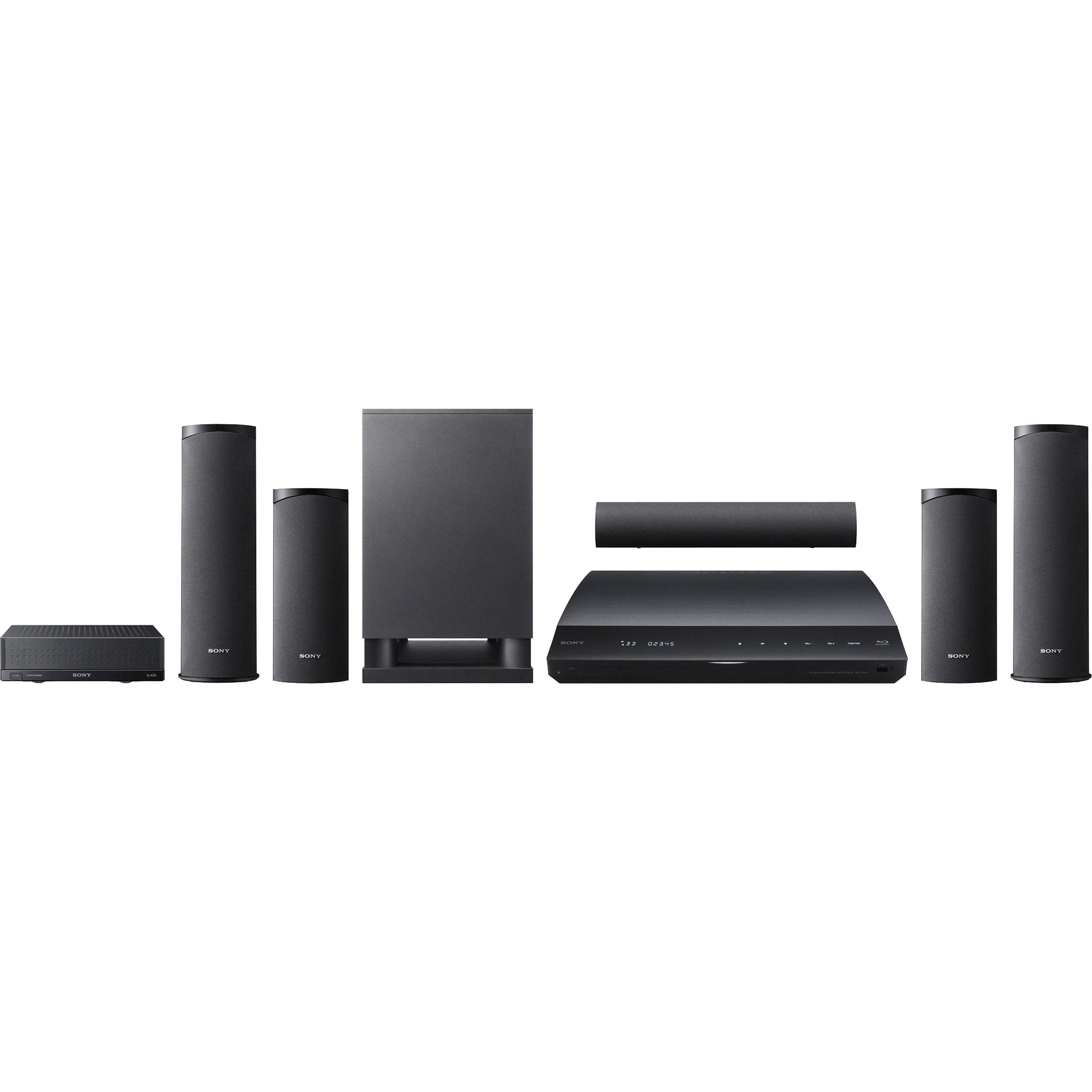 Sony Blu Ray Surround Sound System Wireless Rear Speakers Round