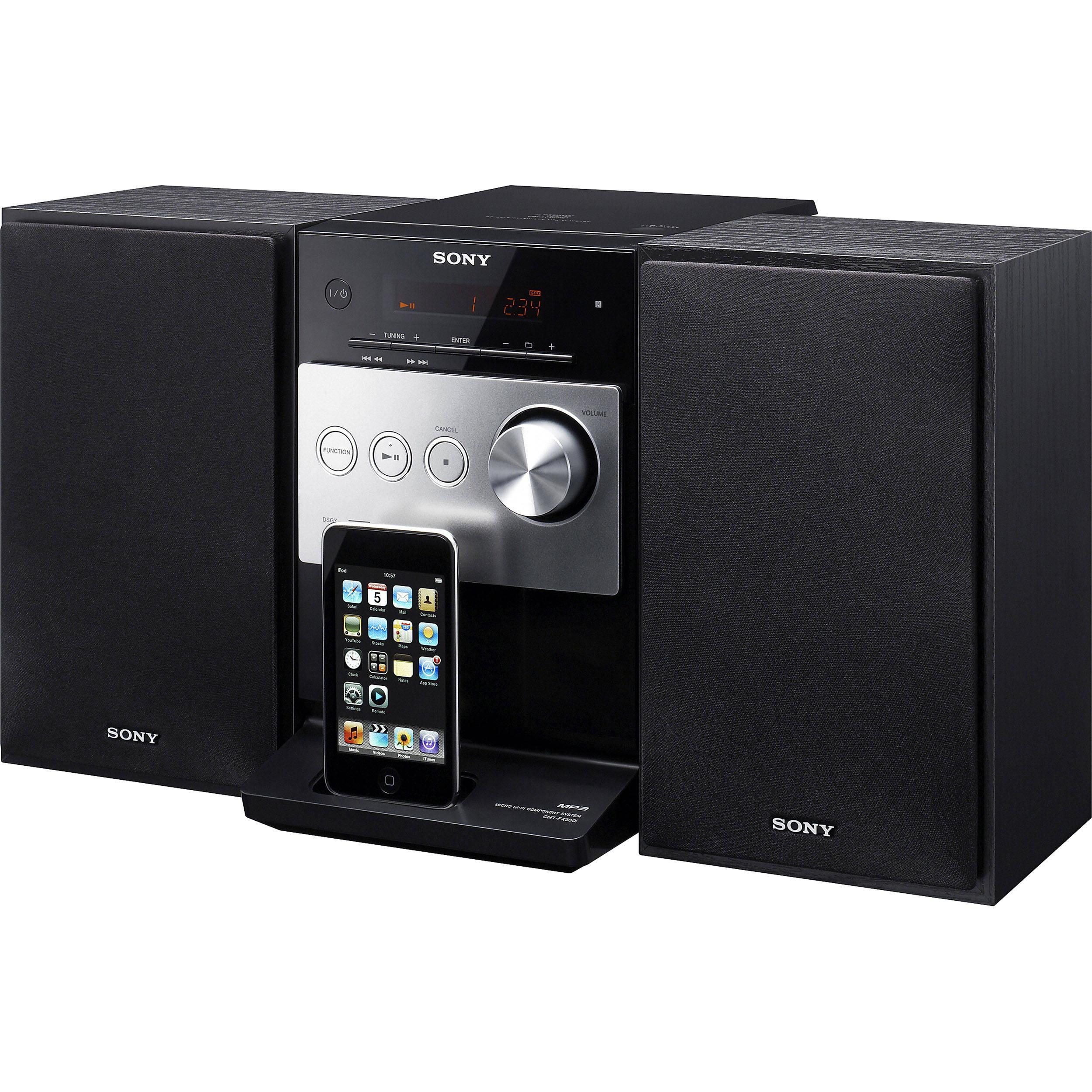 sony cmt fx300i micro hi fi system cmt fx300i b h photo video. Black Bedroom Furniture Sets. Home Design Ideas
