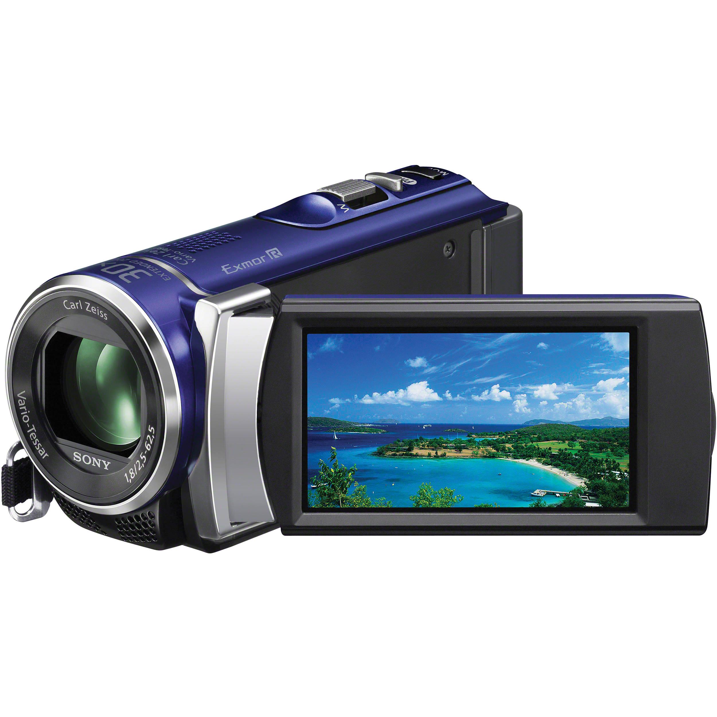 sony pal hdr cx210 handycam video camera blue hdr cx210e l b h rh bhphotovideo com High-Tech Sony Camcorder 800 sony handycam hdr-cx210 software