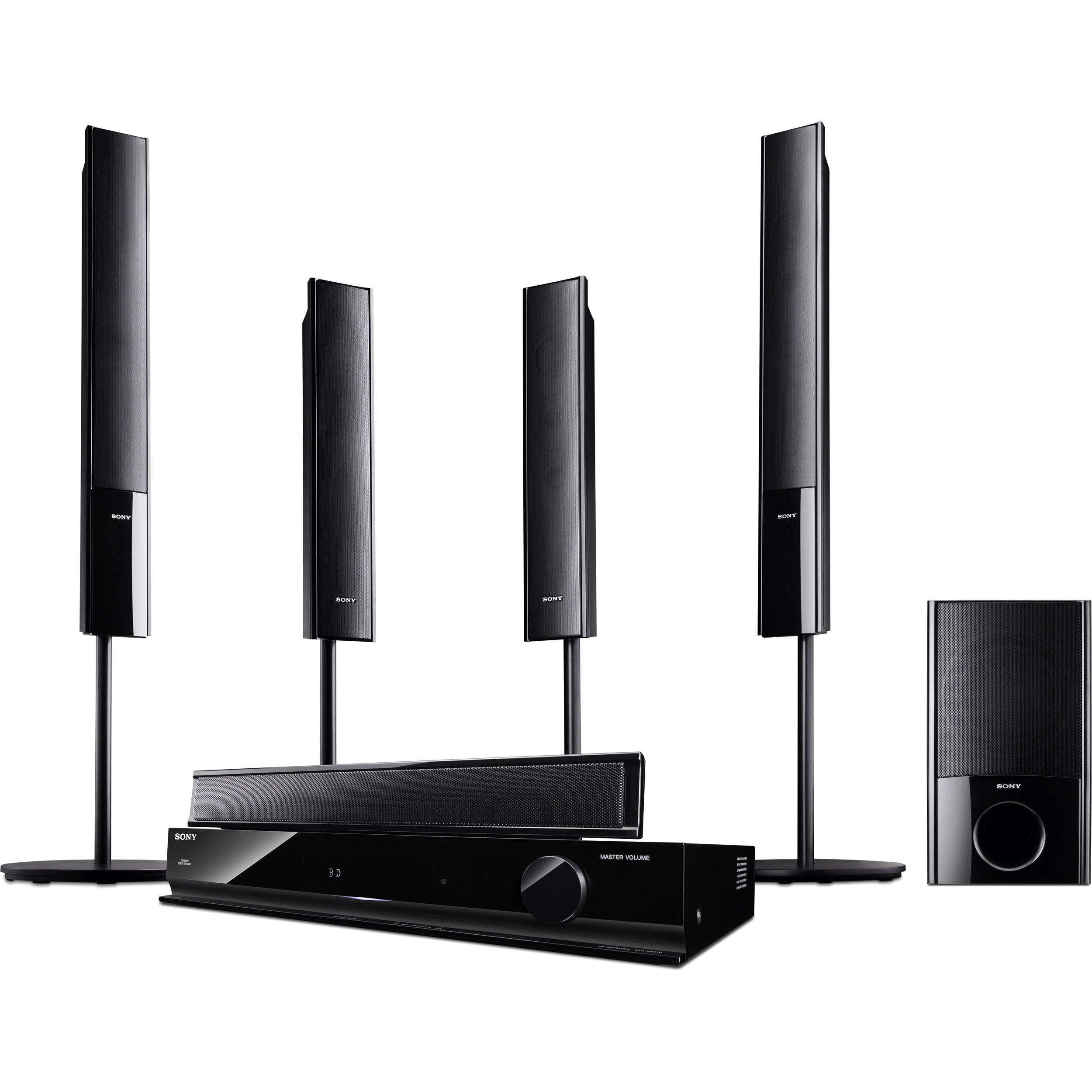 sony ht sf470 5 1 channel surround sound system htsf470 b h. Black Bedroom Furniture Sets. Home Design Ideas