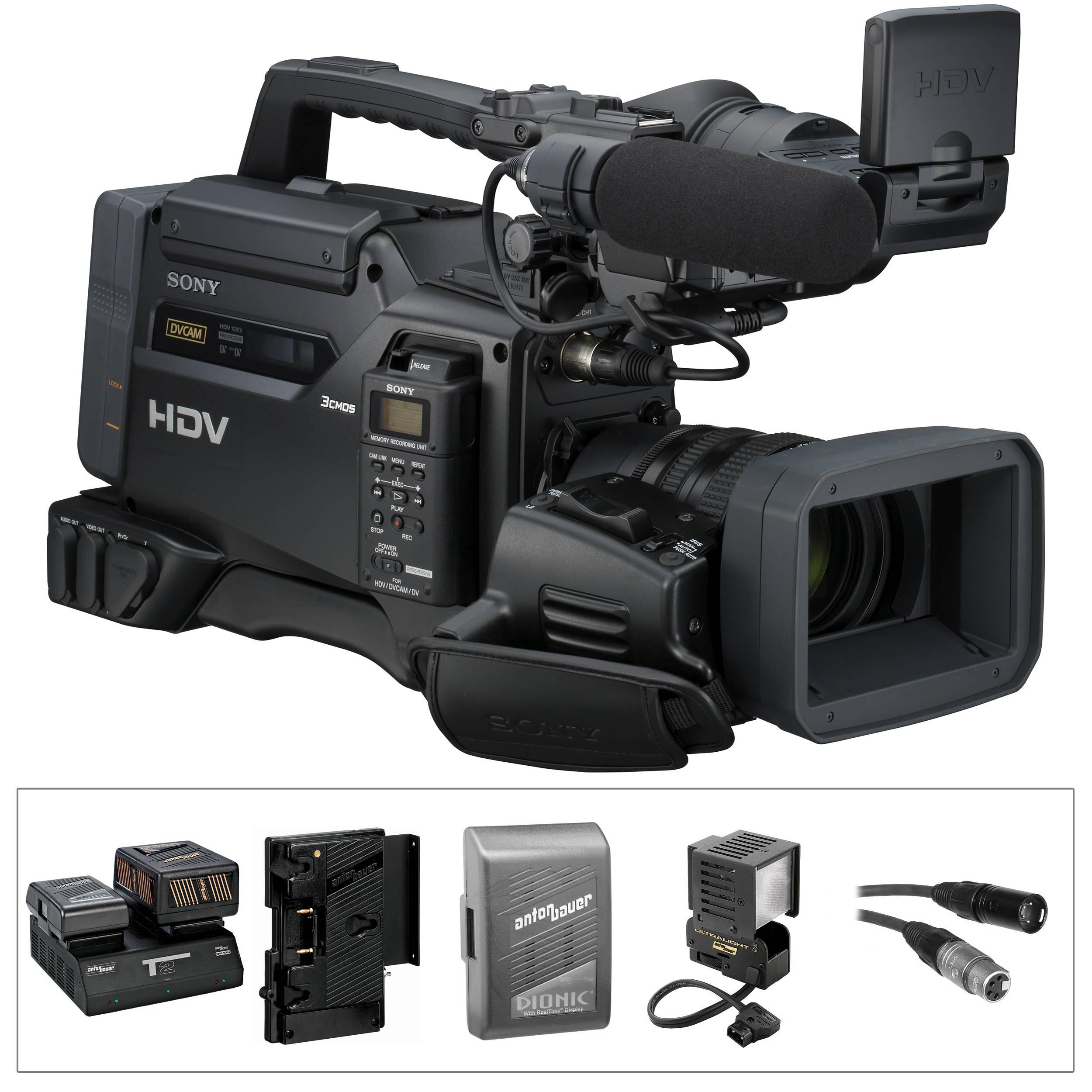 sony hvr s270u 1080i hdv camcorder anton bauer kit b h photo rh bhphotovideo com Sony HDR HC1 Sony 1080I HD Progressive