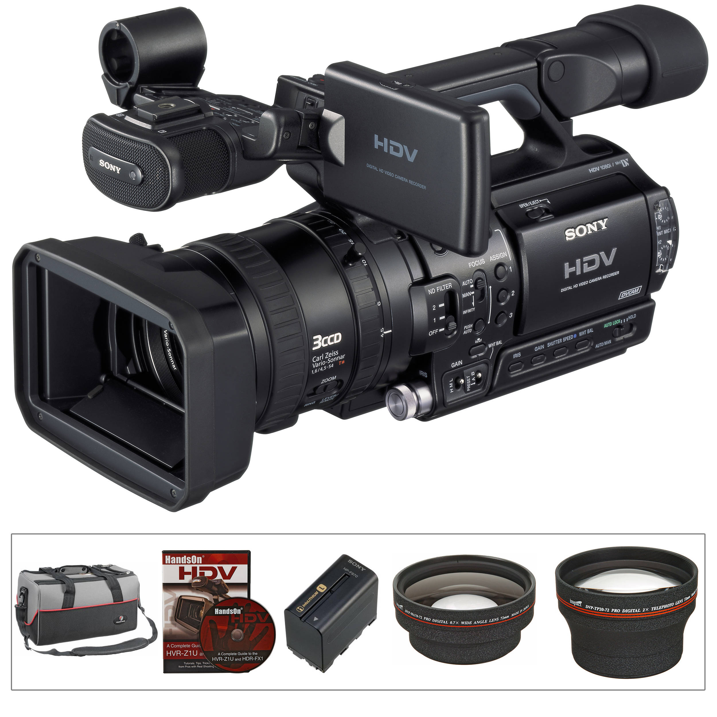 sony hvr z1u 1 3 3ccd hdv camcorder kit b h photo video rh bhphotovideo com sony hvr z1 manual pdf sony hvr-z1 service manual pdf