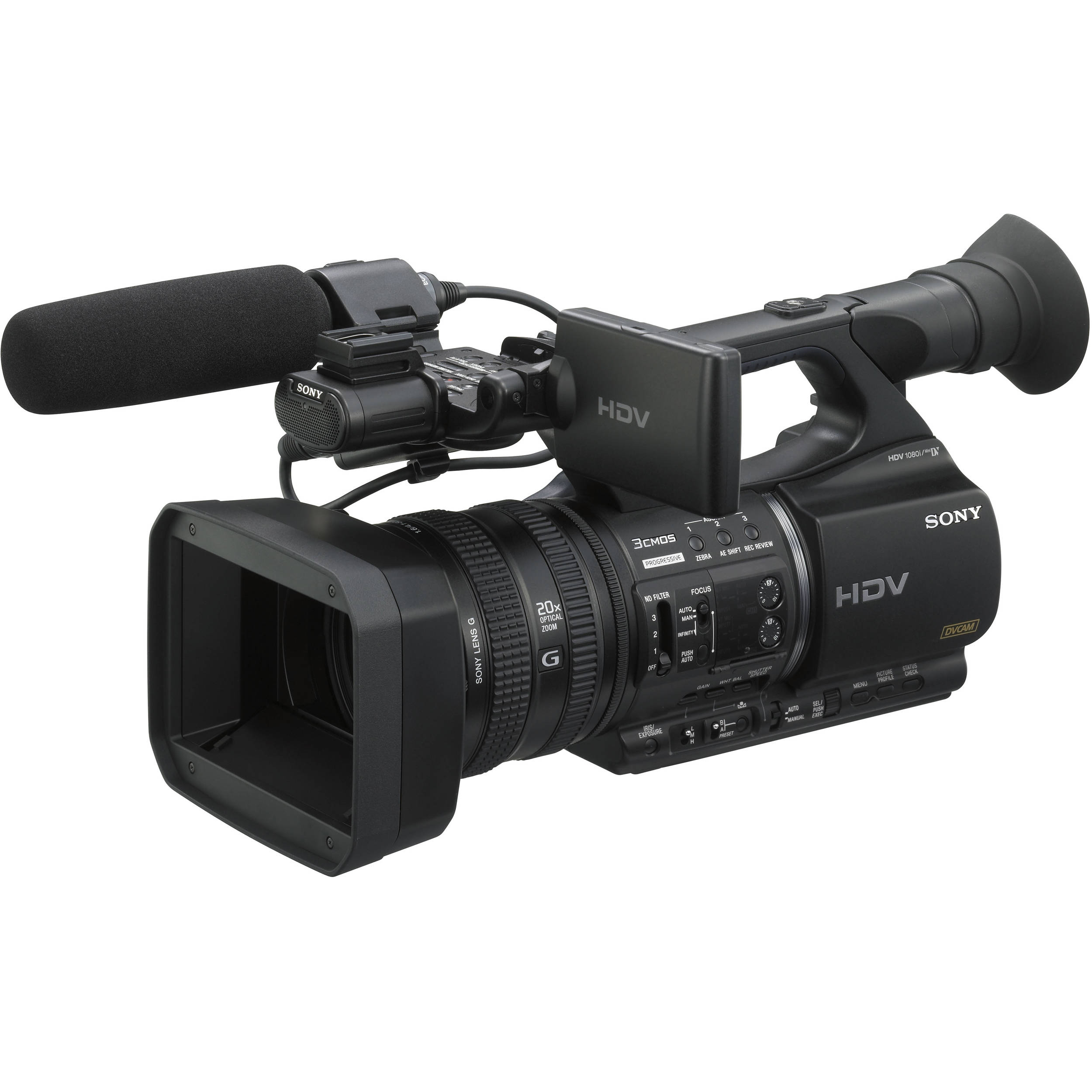 sony hvr z5u professional hdv camcorder hvr z5u b h photo video. Black Bedroom Furniture Sets. Home Design Ideas
