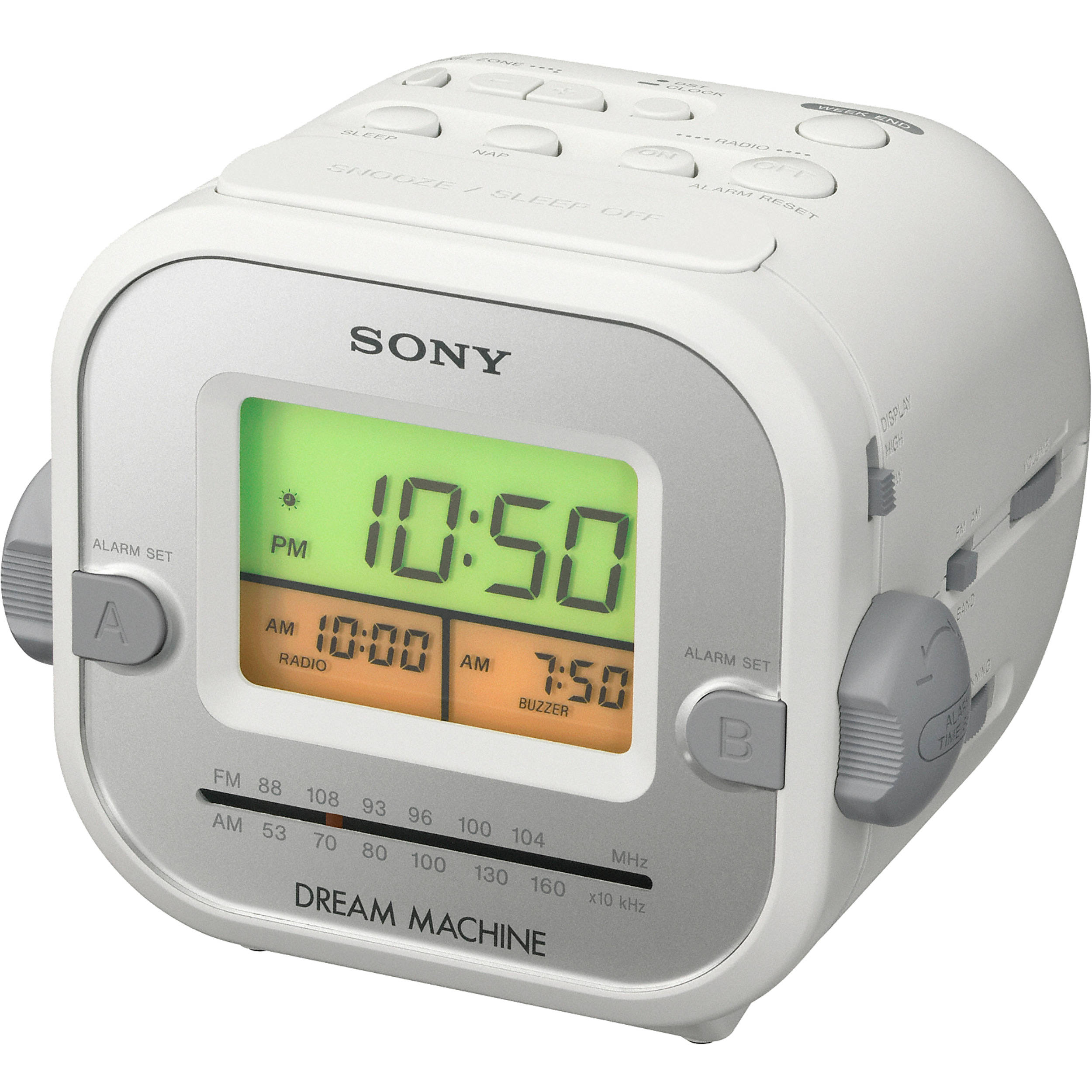 Sony Icf C180 Clock Radio With Auto Time Set Icfc180 B H Photo