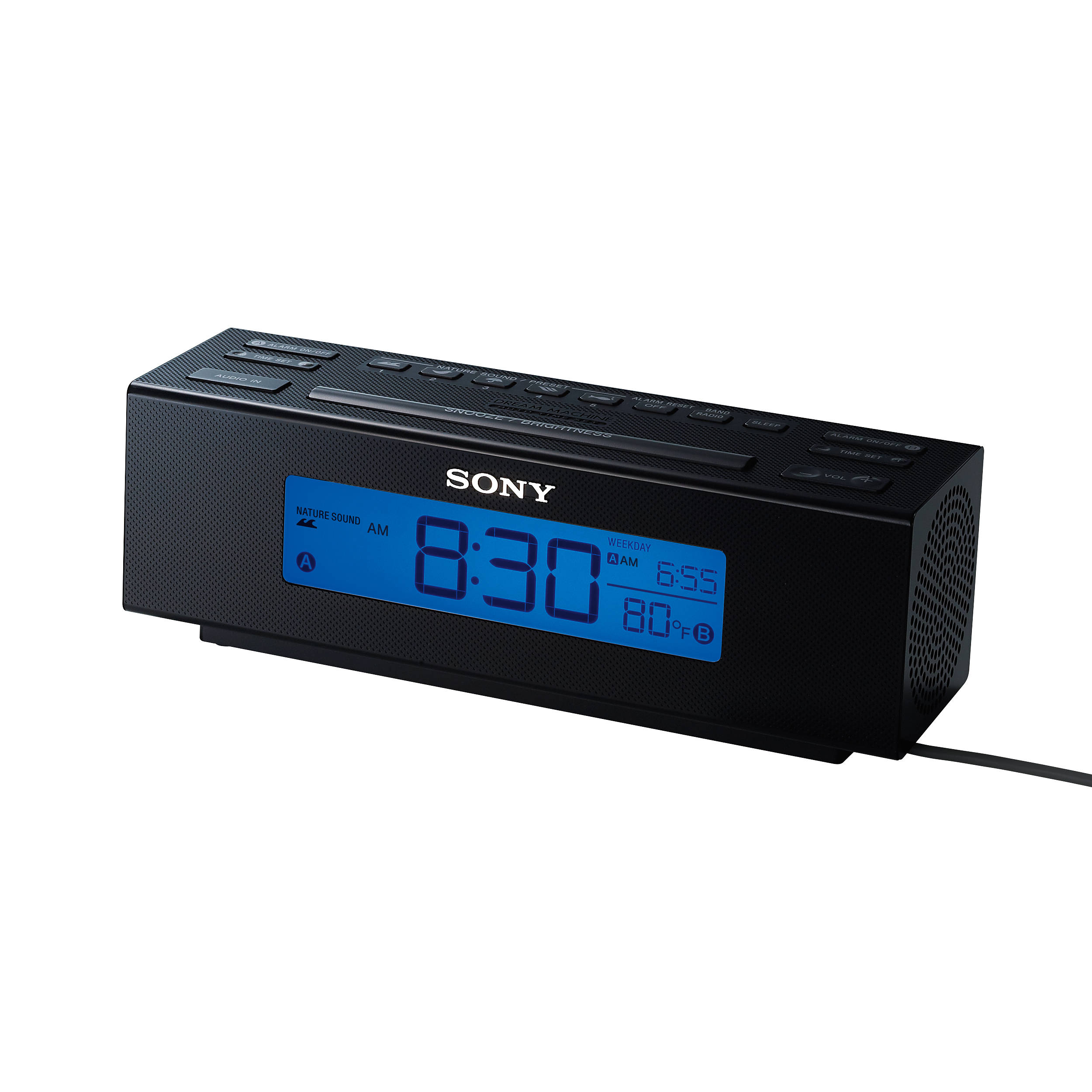 sony icf c707 clock radio icf c707 b h photo video rh bhphotovideo com Nature Sounds Alarm Clock Nature Sounds Alarm Clock