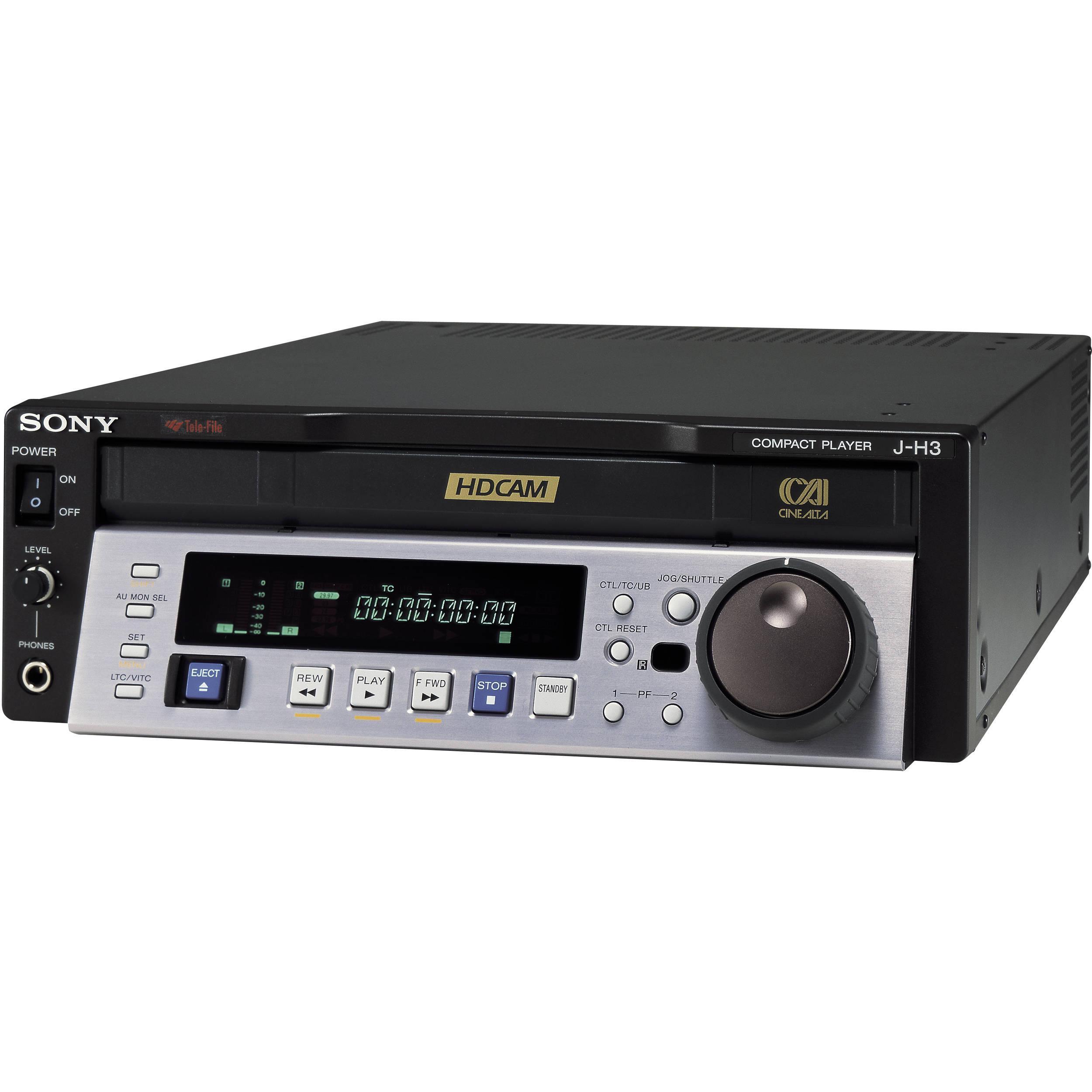 sony jh 3 hdcam digital video cassette player jh3 b h photo rh bhphotovideo com Sony TV Repair Manual Sony M 80 Manual