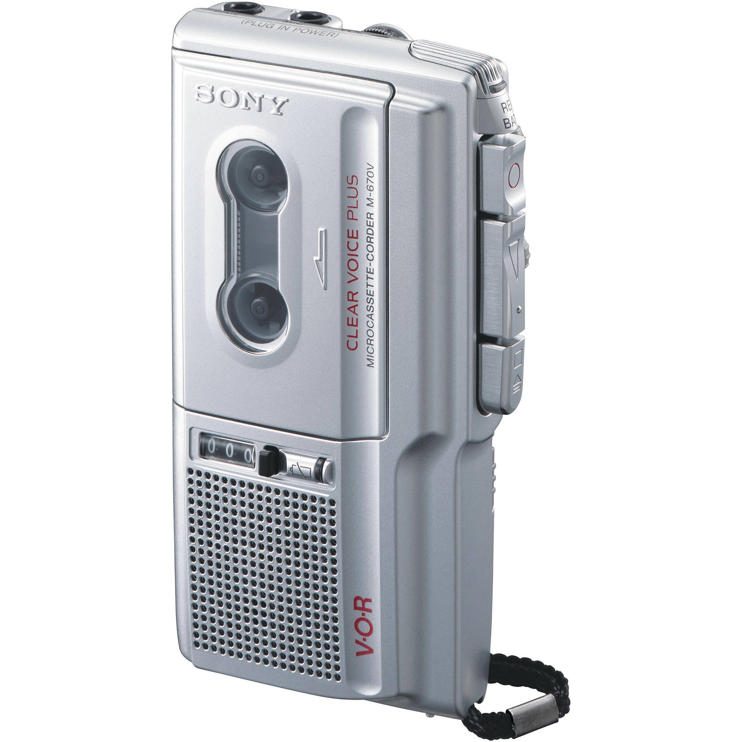Sony M-670V Microcassette Voice Recorder M670V B&H Photo Video