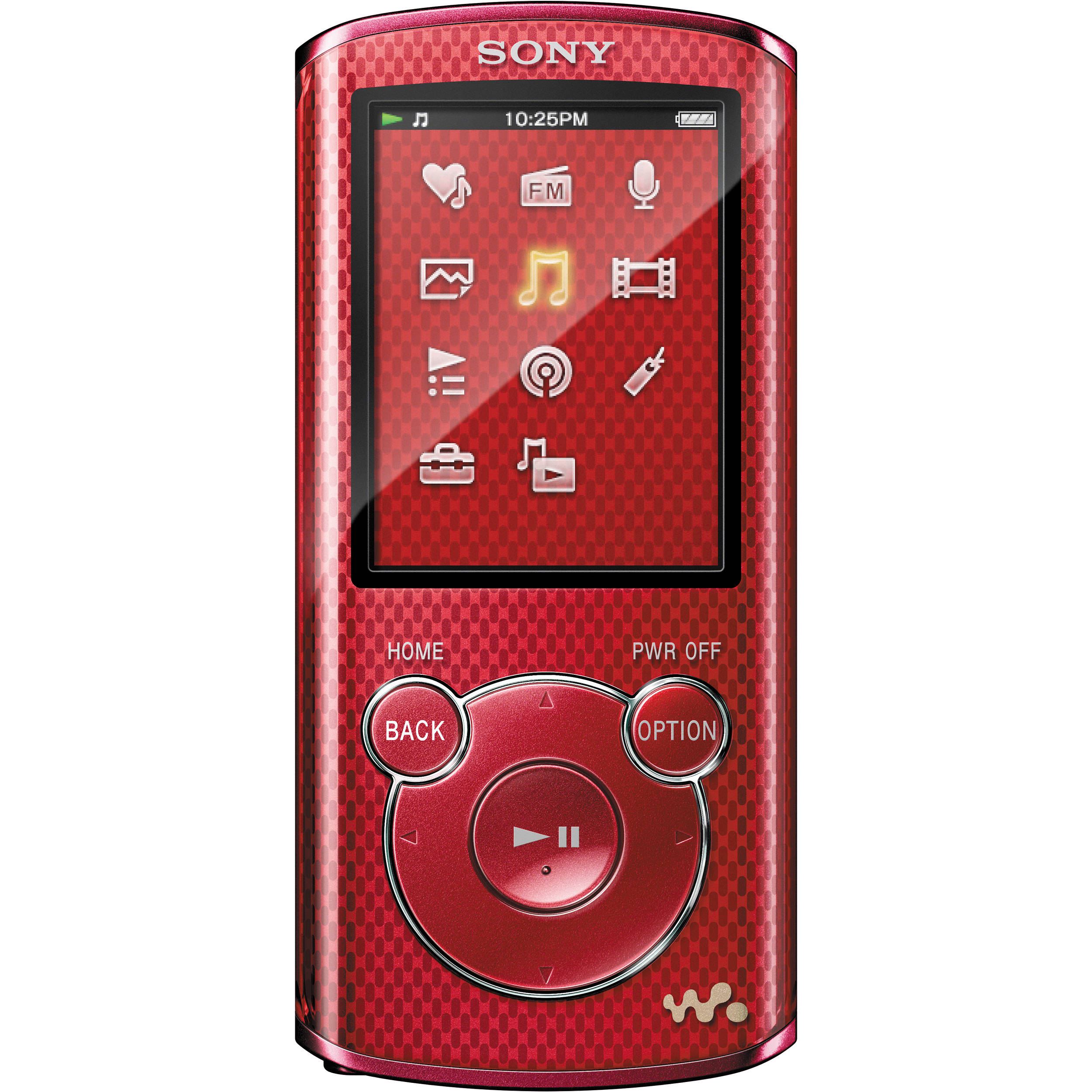 sony 4gb e series walkman video mp3 player red nwze463red b h. Black Bedroom Furniture Sets. Home Design Ideas
