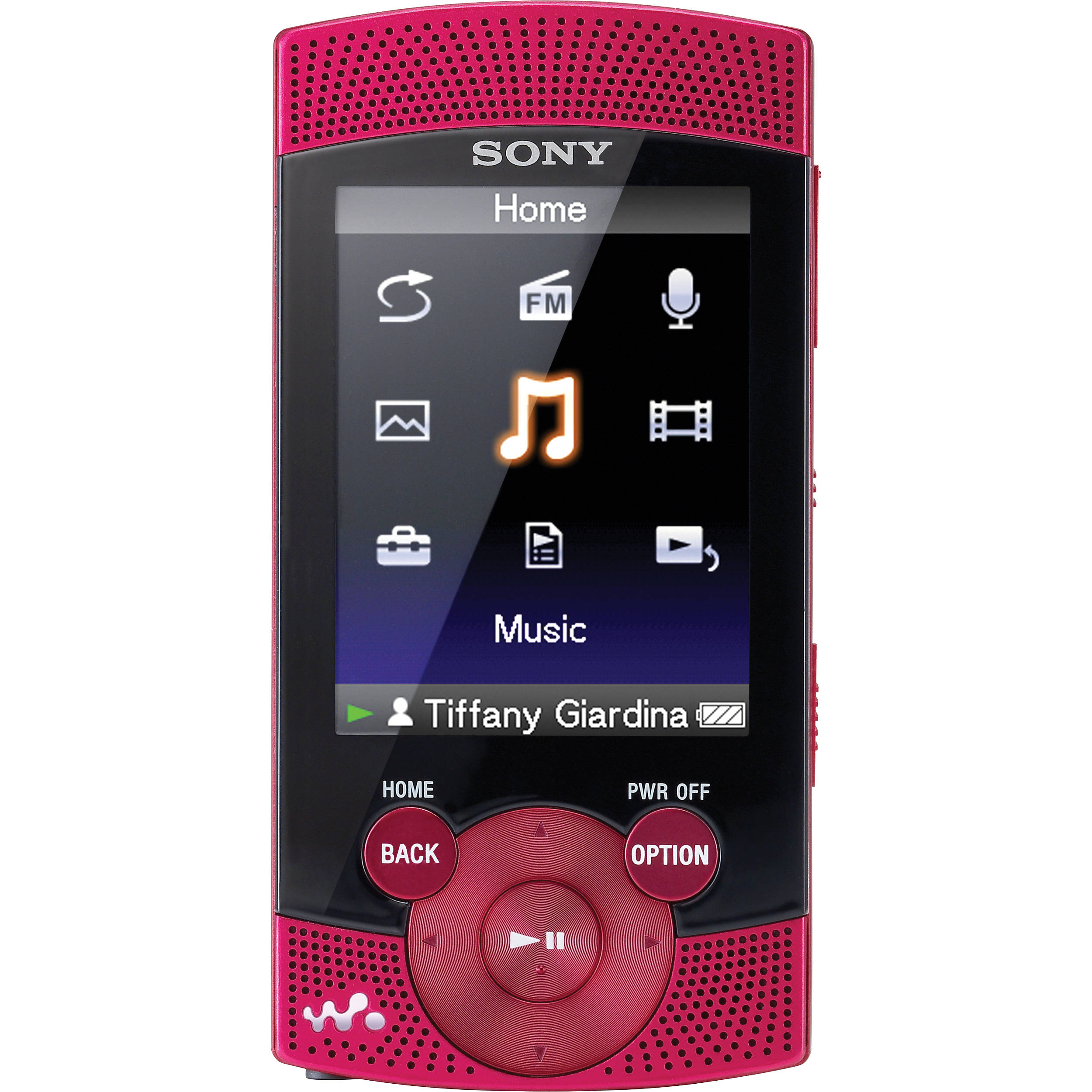sony 16gb s series walkman video mp3 player red nwz s545red. Black Bedroom Furniture Sets. Home Design Ideas