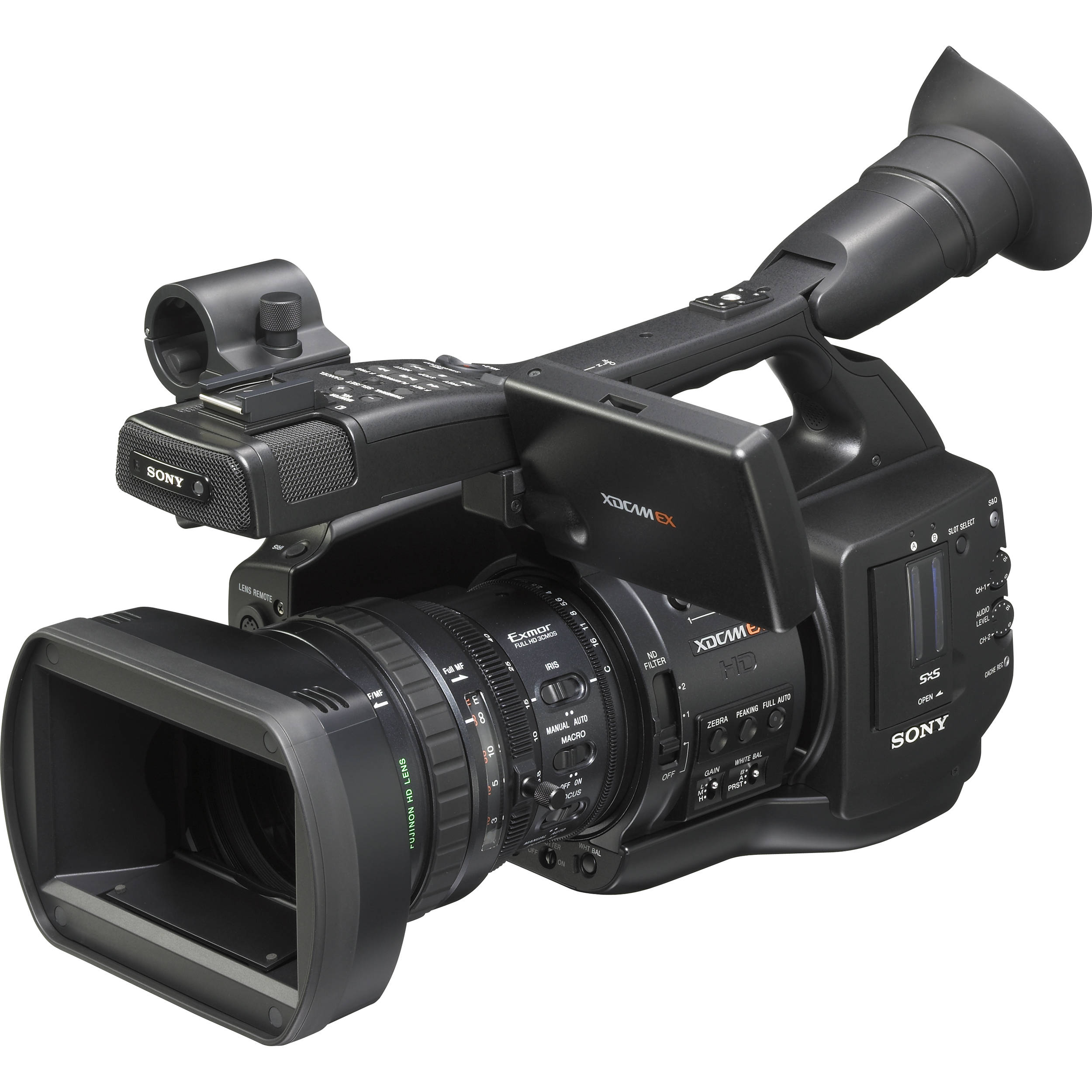 sony pmw ex1r xdcam ex full hd camcorder pmw ex1r 3 b h photo. Black Bedroom Furniture Sets. Home Design Ideas