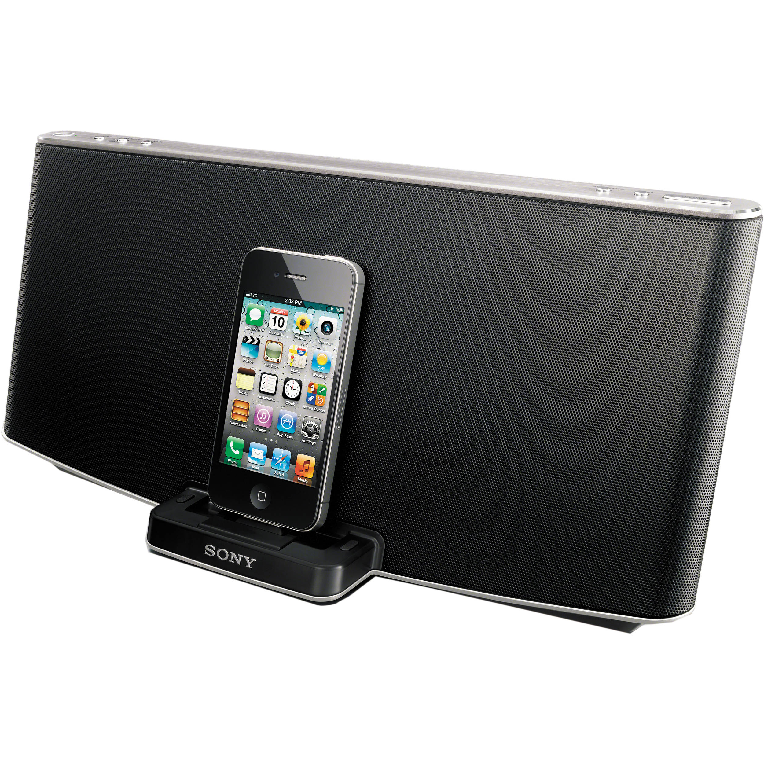 sony rdp x200ip speaker dock for ipod iphone rdpx200ip. Black Bedroom Furniture Sets. Home Design Ideas