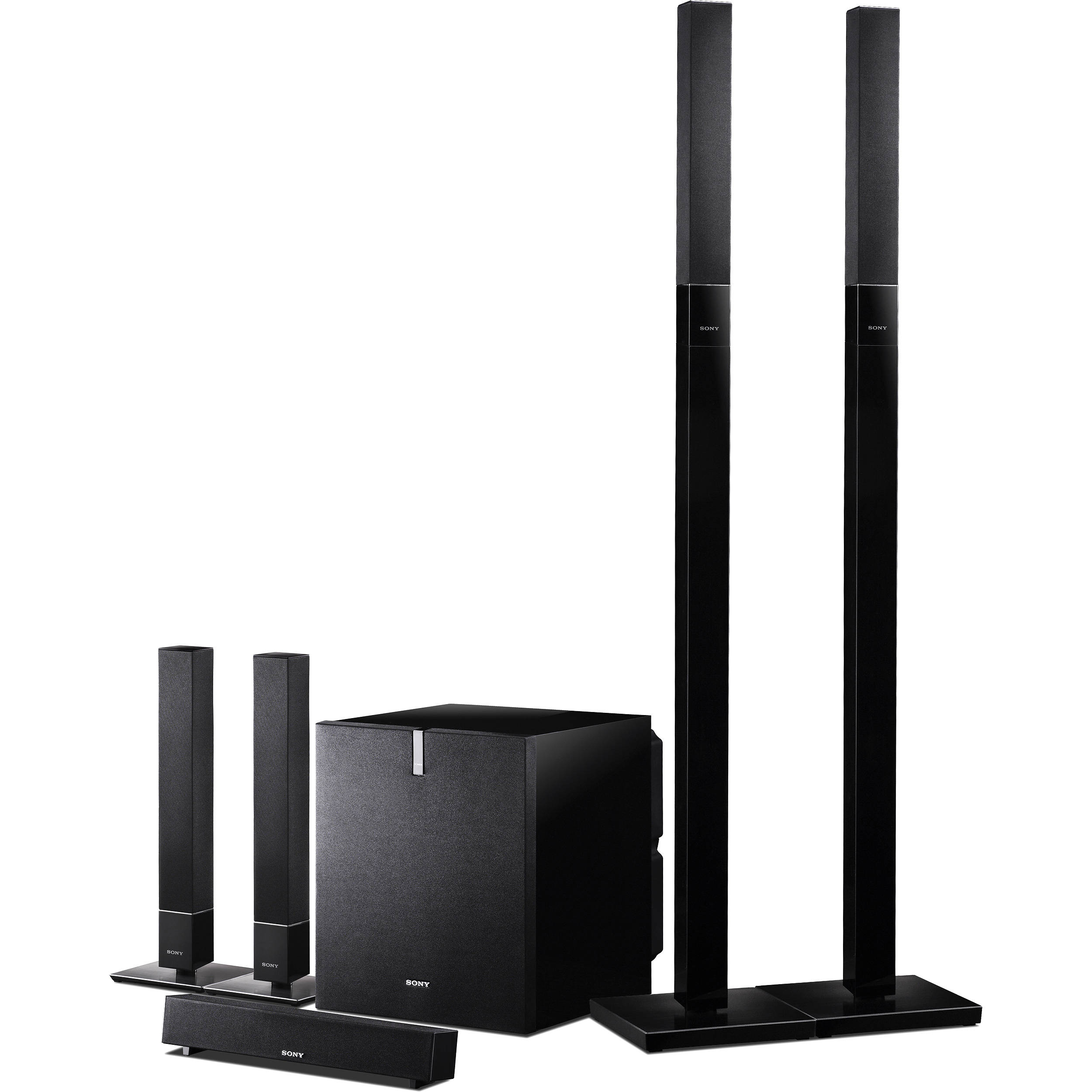 sony sa vs310 5 1 channel speaker system savs310 b h photo. Black Bedroom Furniture Sets. Home Design Ideas