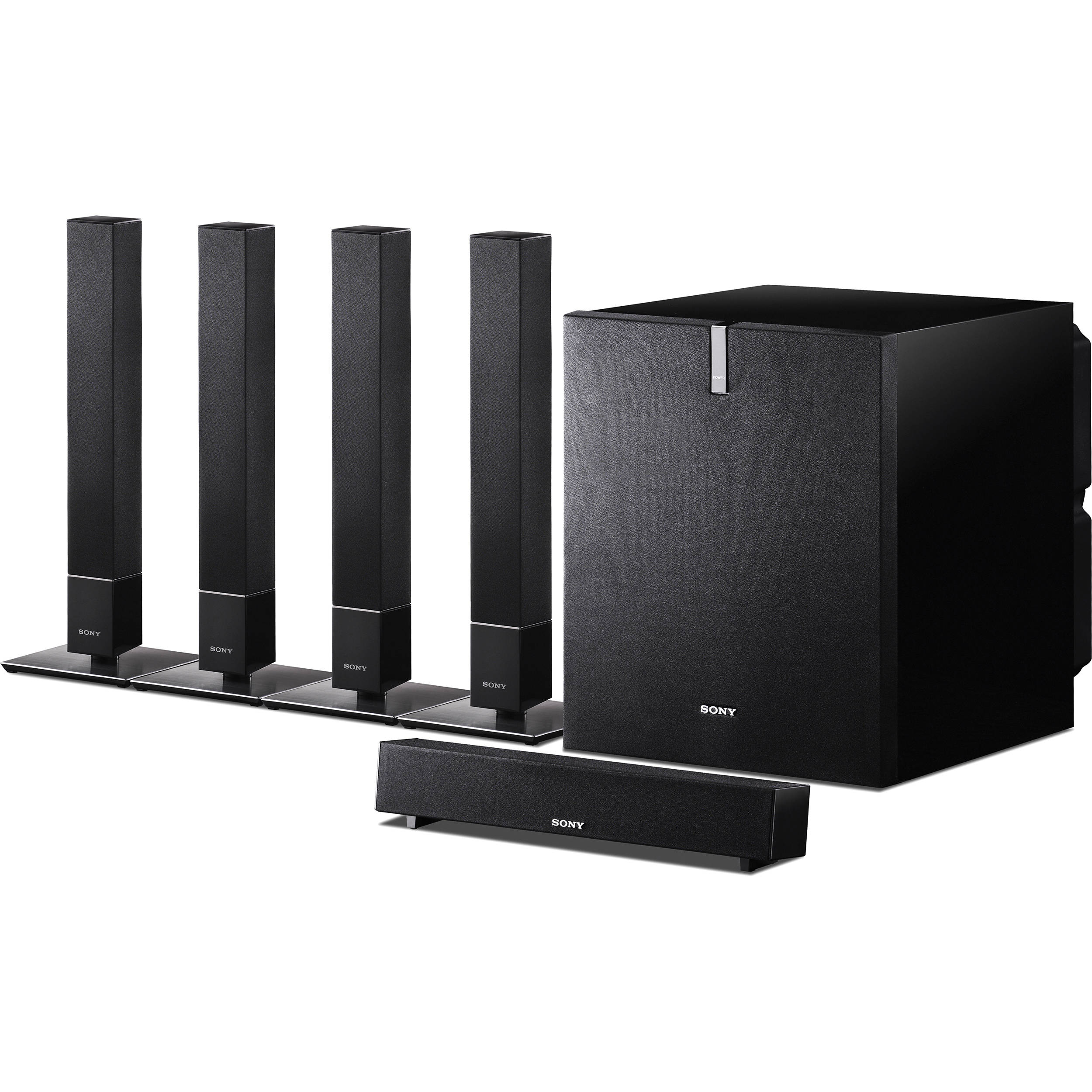 sony sa vs110 5 1 channel home theater speaker system sa vs110. Black Bedroom Furniture Sets. Home Design Ideas