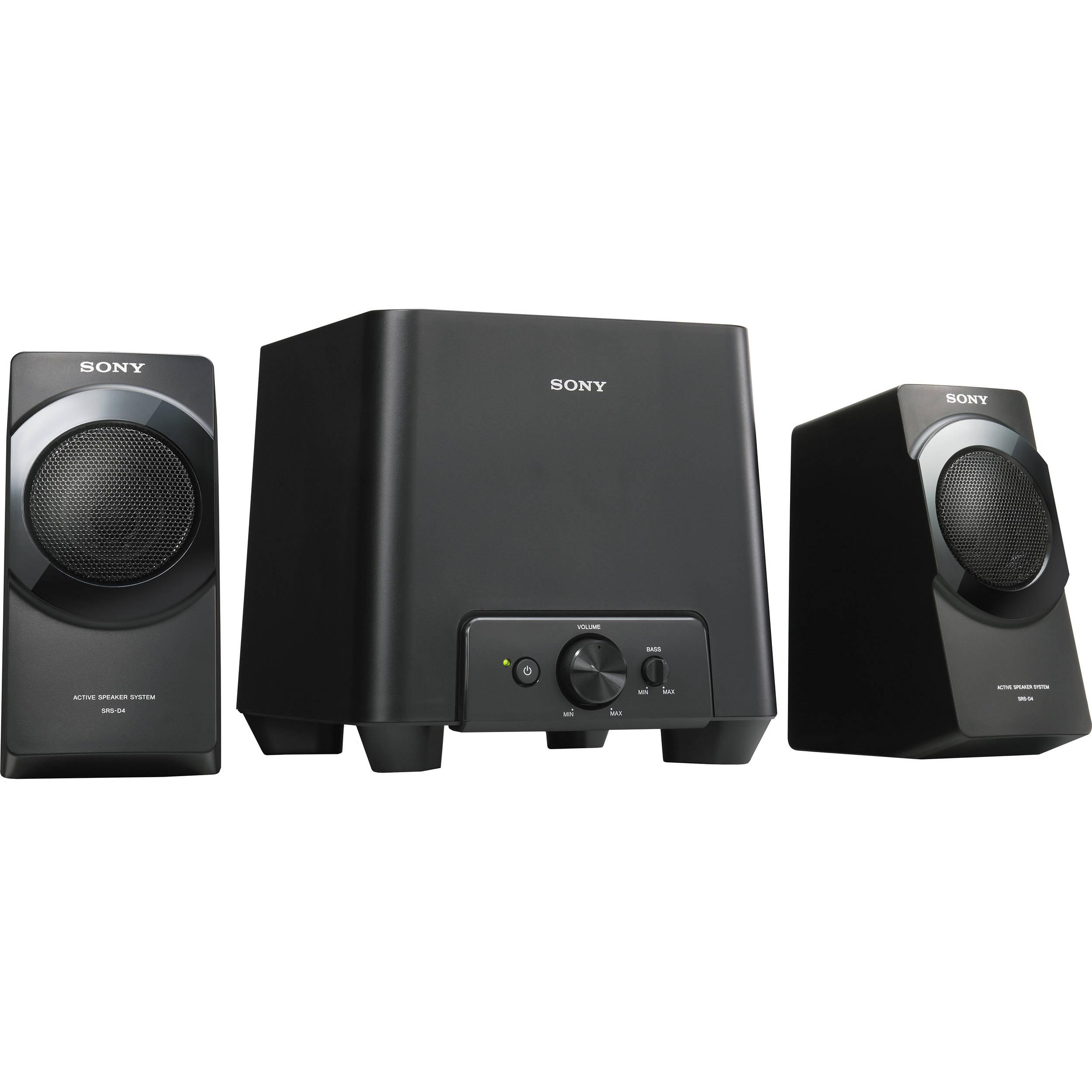 sony desktop speaker system srsd4 b h photo video. Black Bedroom Furniture Sets. Home Design Ideas