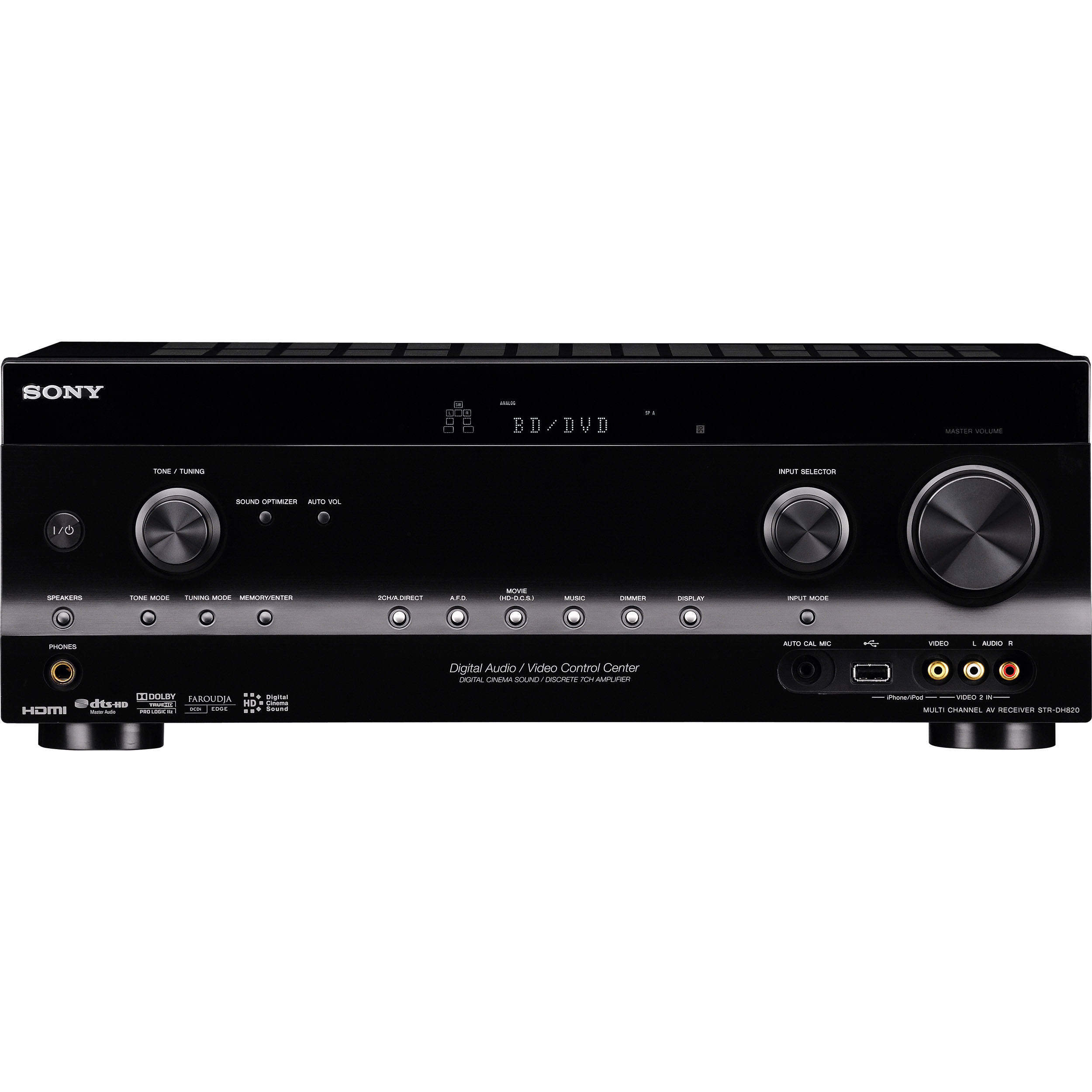 sony str dh820 7 1 channel 3d av receiver strdh820 b h photo rh bhphotovideo com