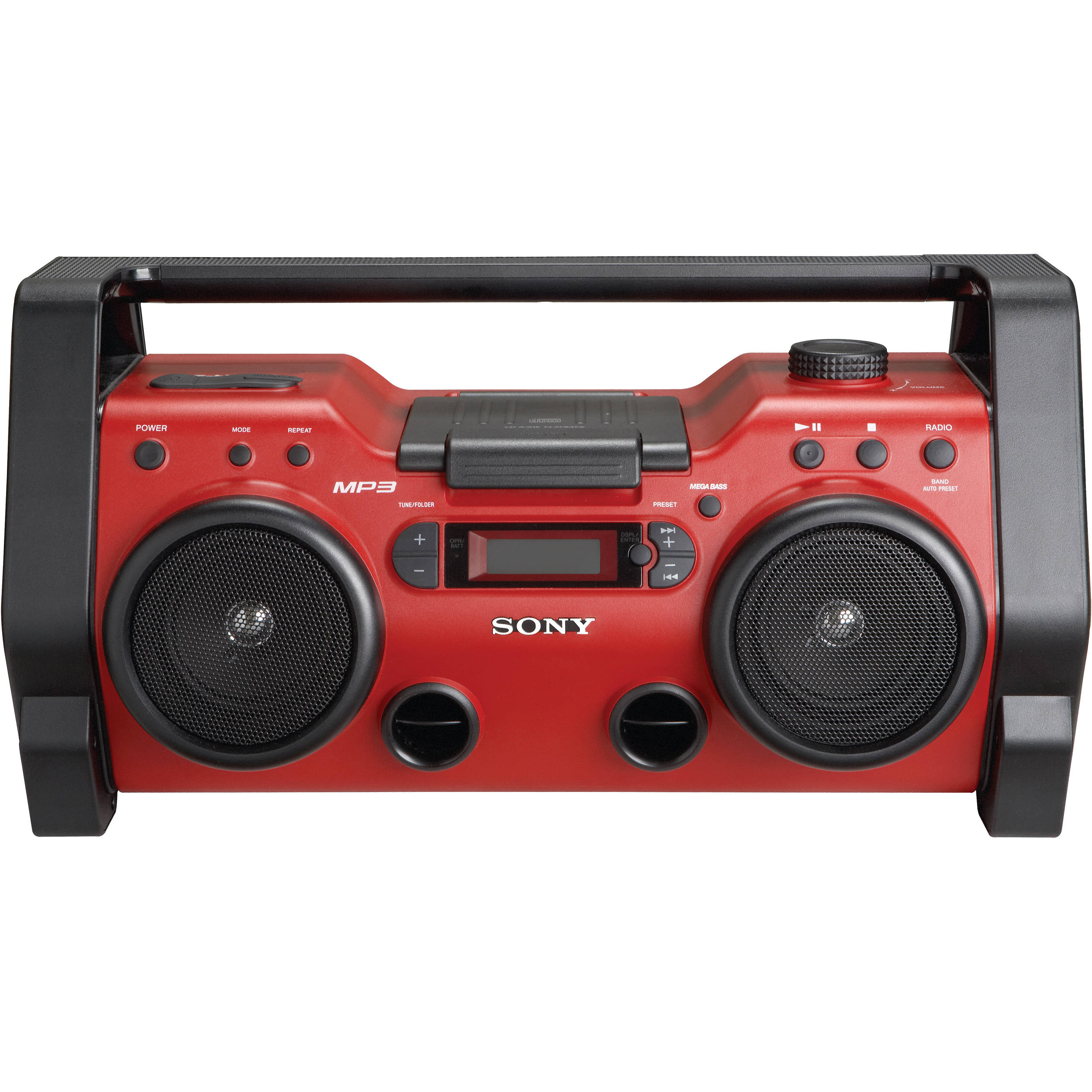 sony zs h10cp heavy duty cd radio zsh10cp b h photo video. Black Bedroom Furniture Sets. Home Design Ideas