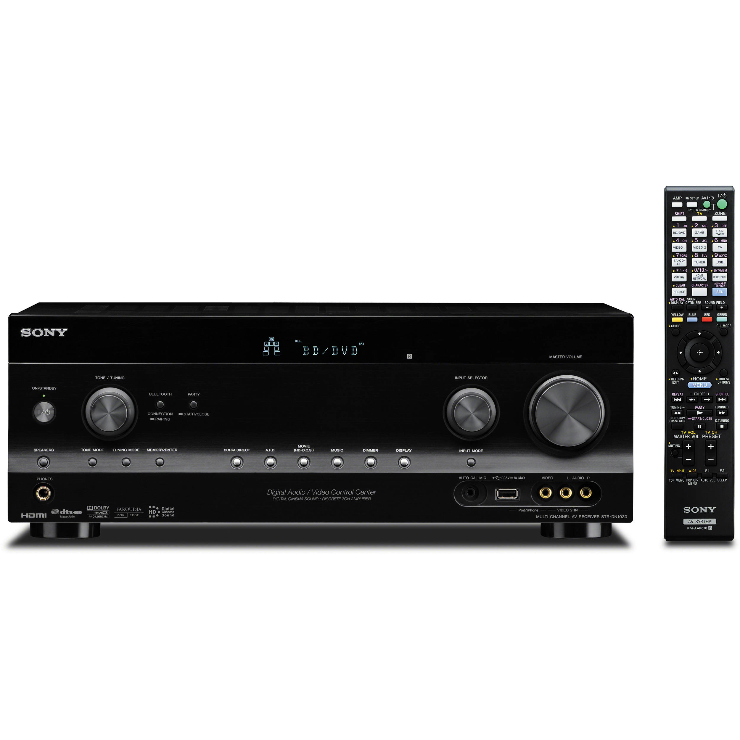 sony str dn1030 7 2 ch wi fi network a v receiver strdn1030 b h rh bhphotovideo com Sony DVD Receivers Sony STR Receivers