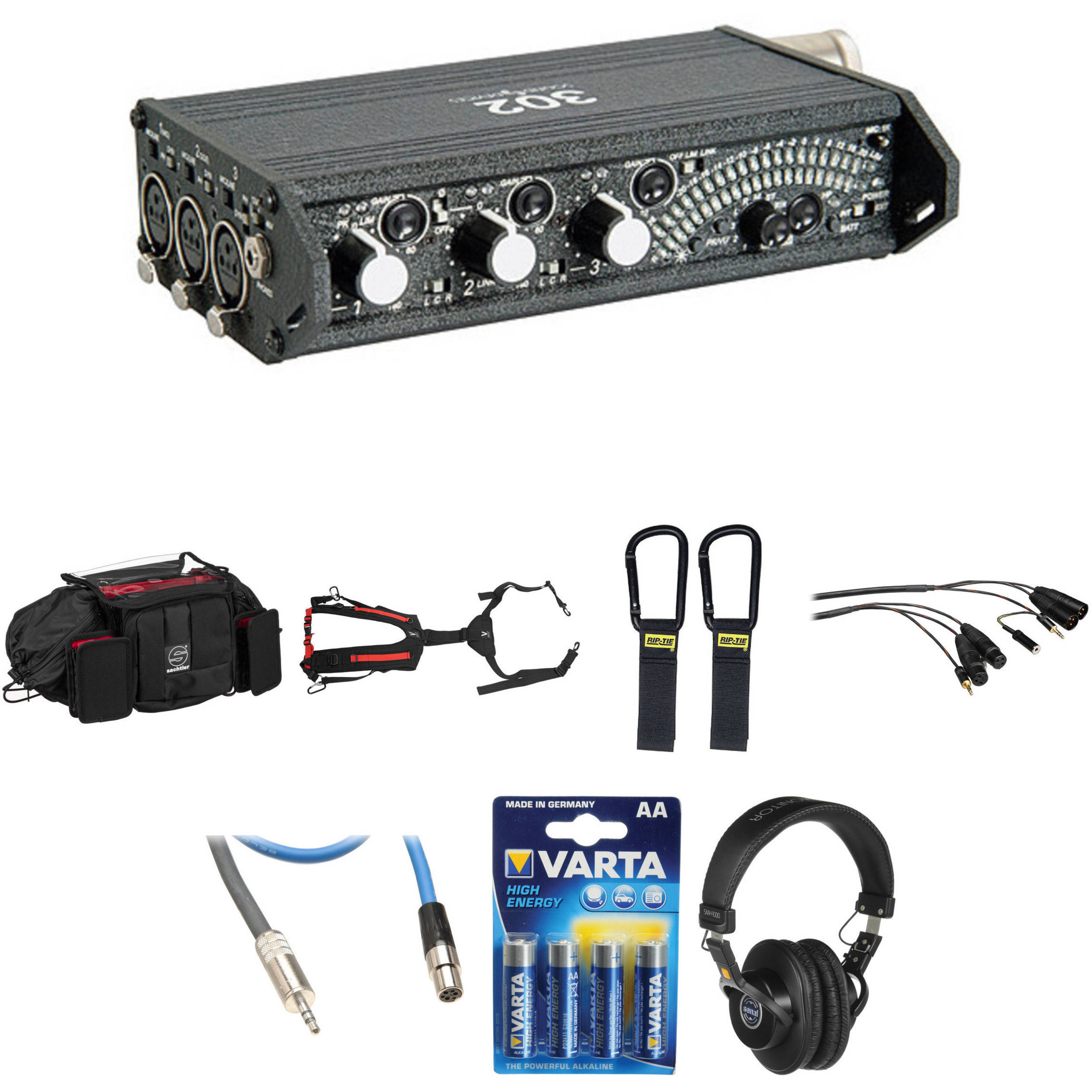Sound Devices 302 Eng Efp Deluxe Field Mixer Kit Bh Photo Video Audio Signal Generator 1khz 22khz